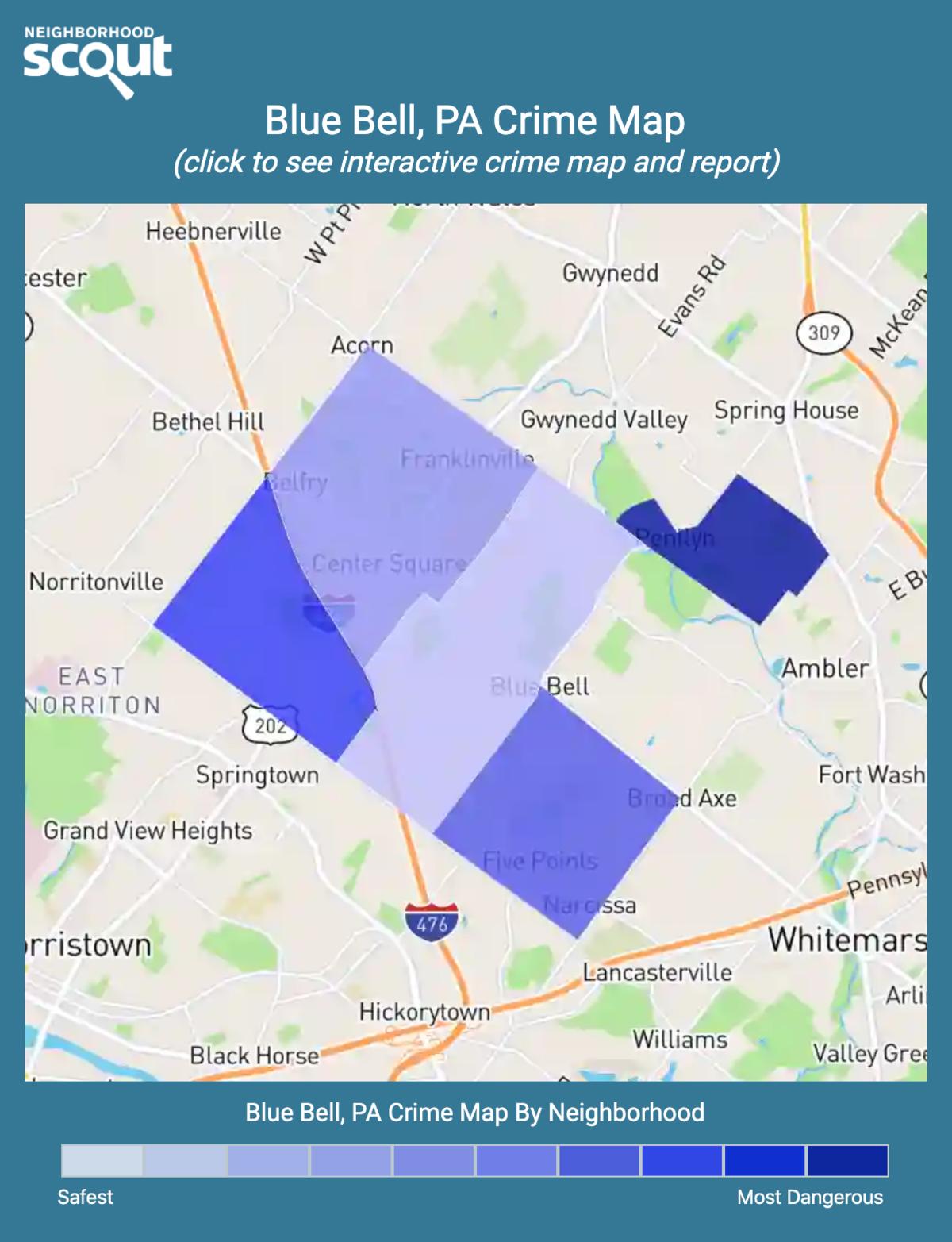 Blue Bell, Pennsylvania crime map