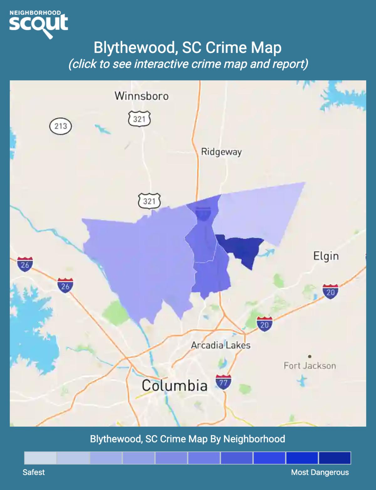 Blythewood, South Carolina crime map