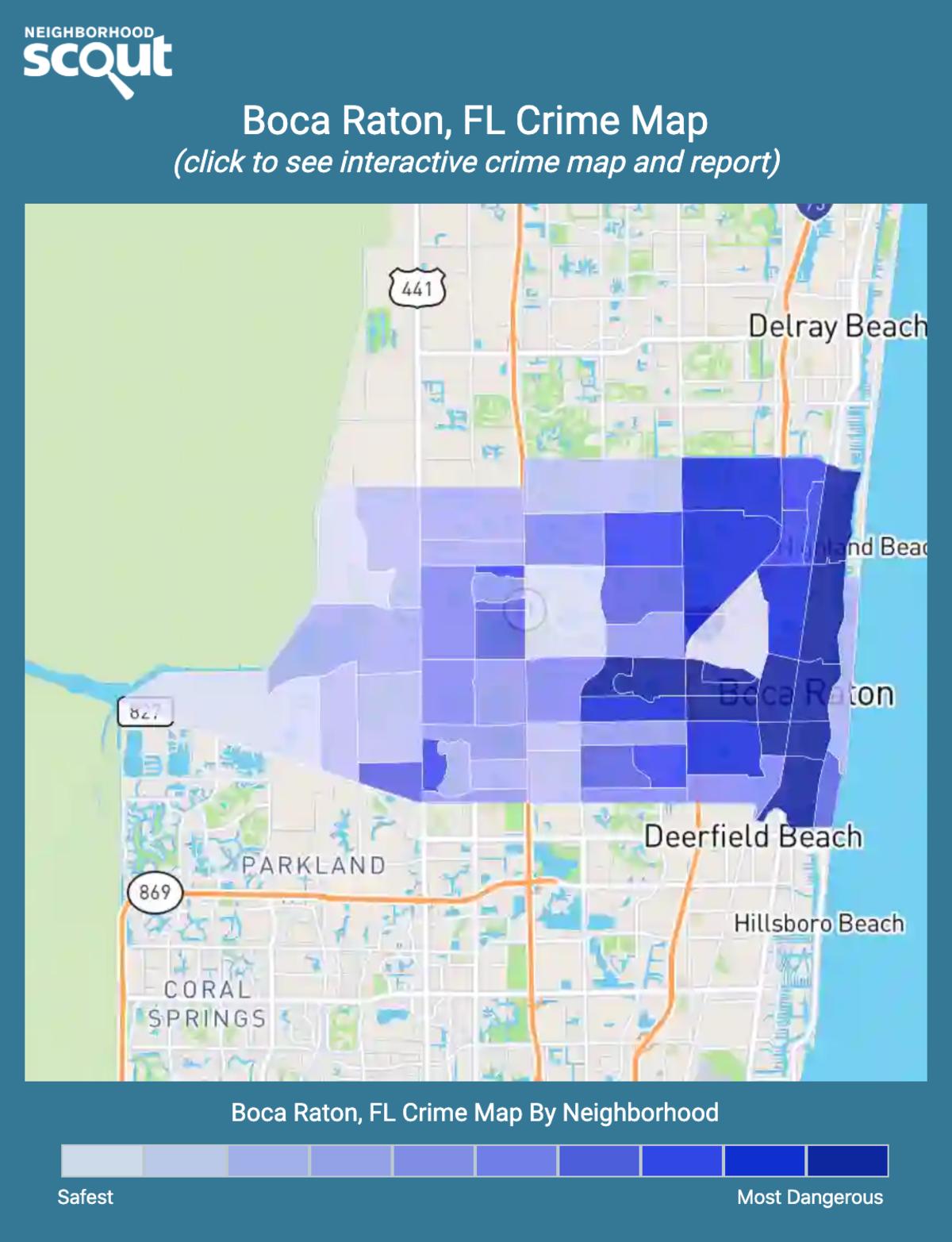 Boca Raton, Florida crime map
