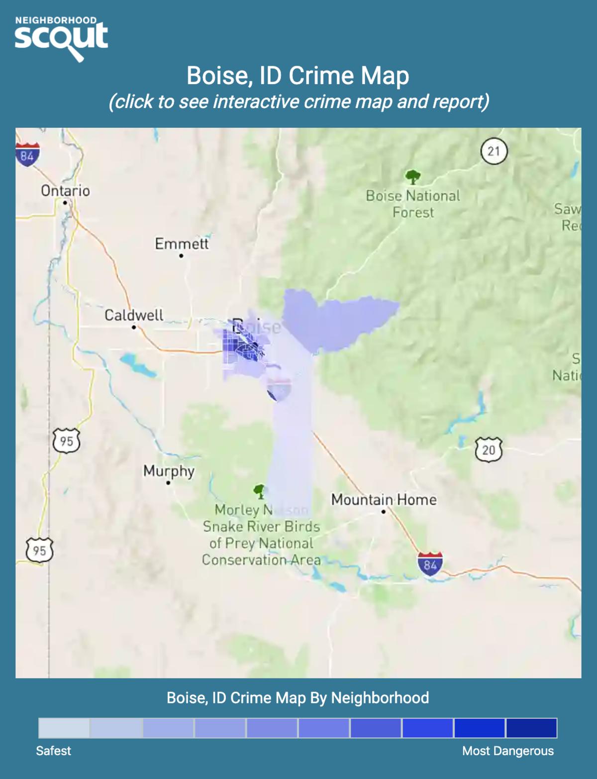 Boise, Idaho crime map