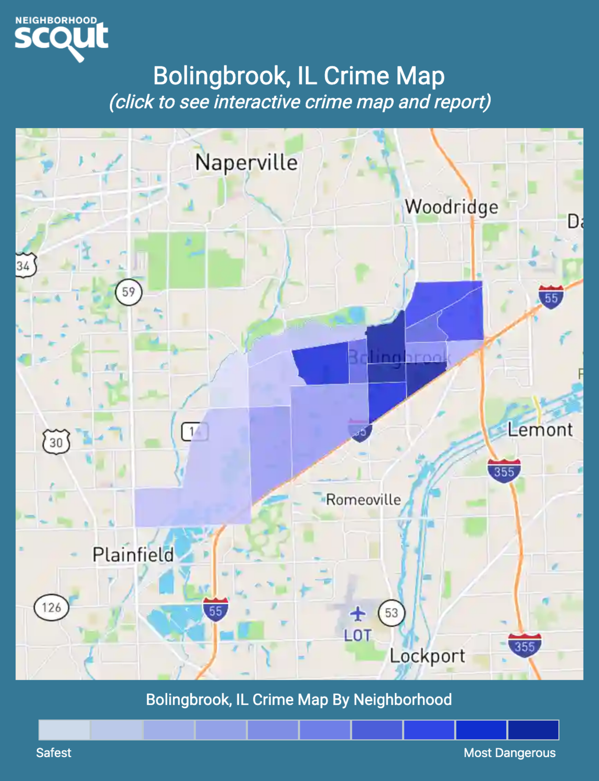 Bolingbrook, Illinois crime map