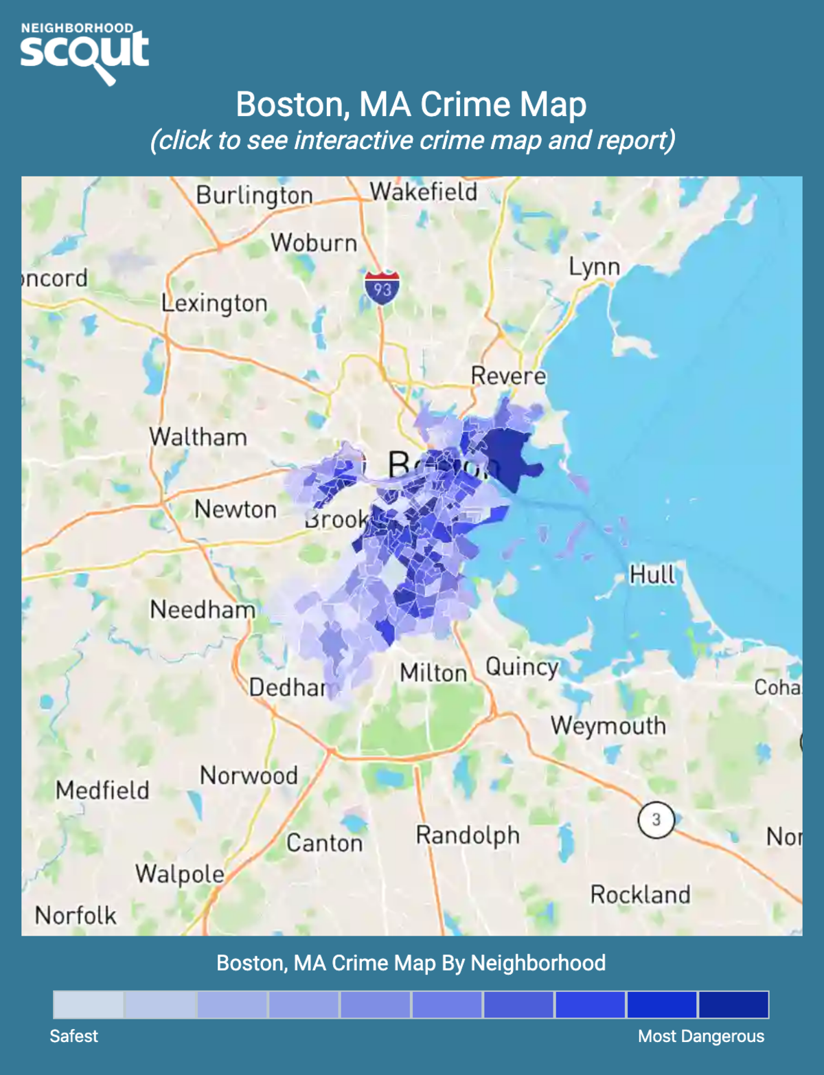 Boston, Massachusetts crime map
