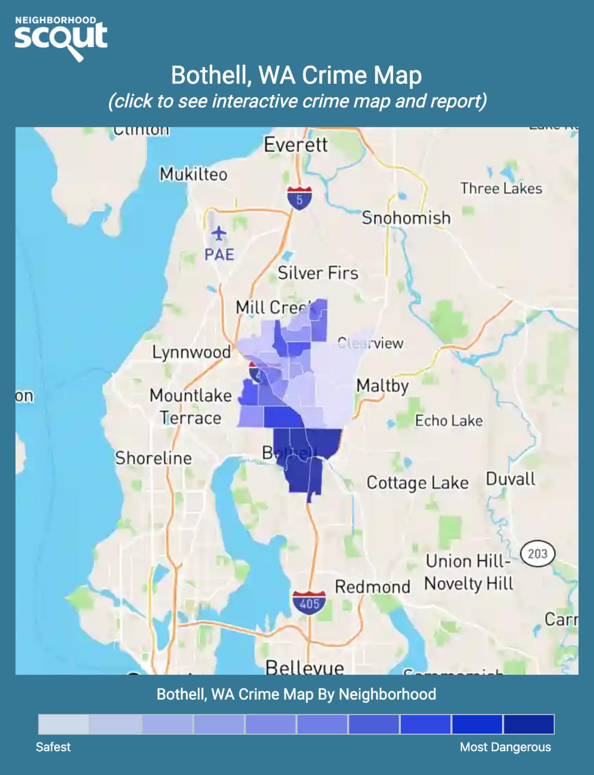 Bothell, Washington crime map