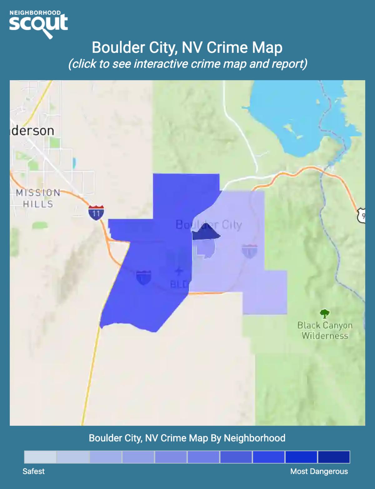 Boulder City, Nevada crime map