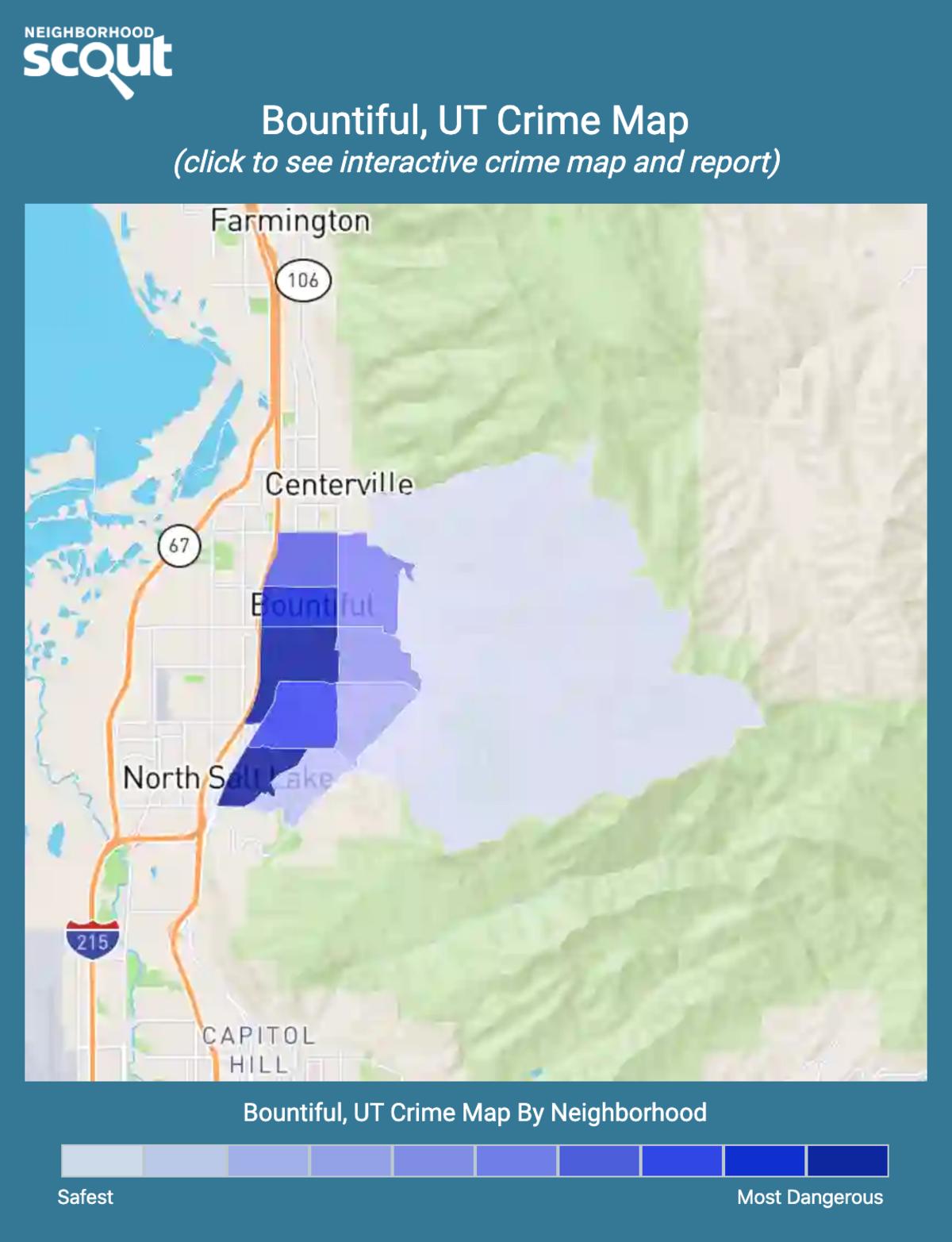 Bountiful, Utah crime map