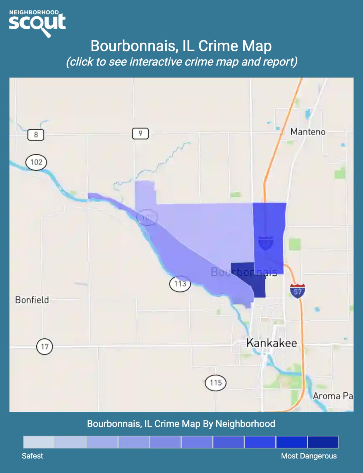 Bourbonnais, Illinois crime map