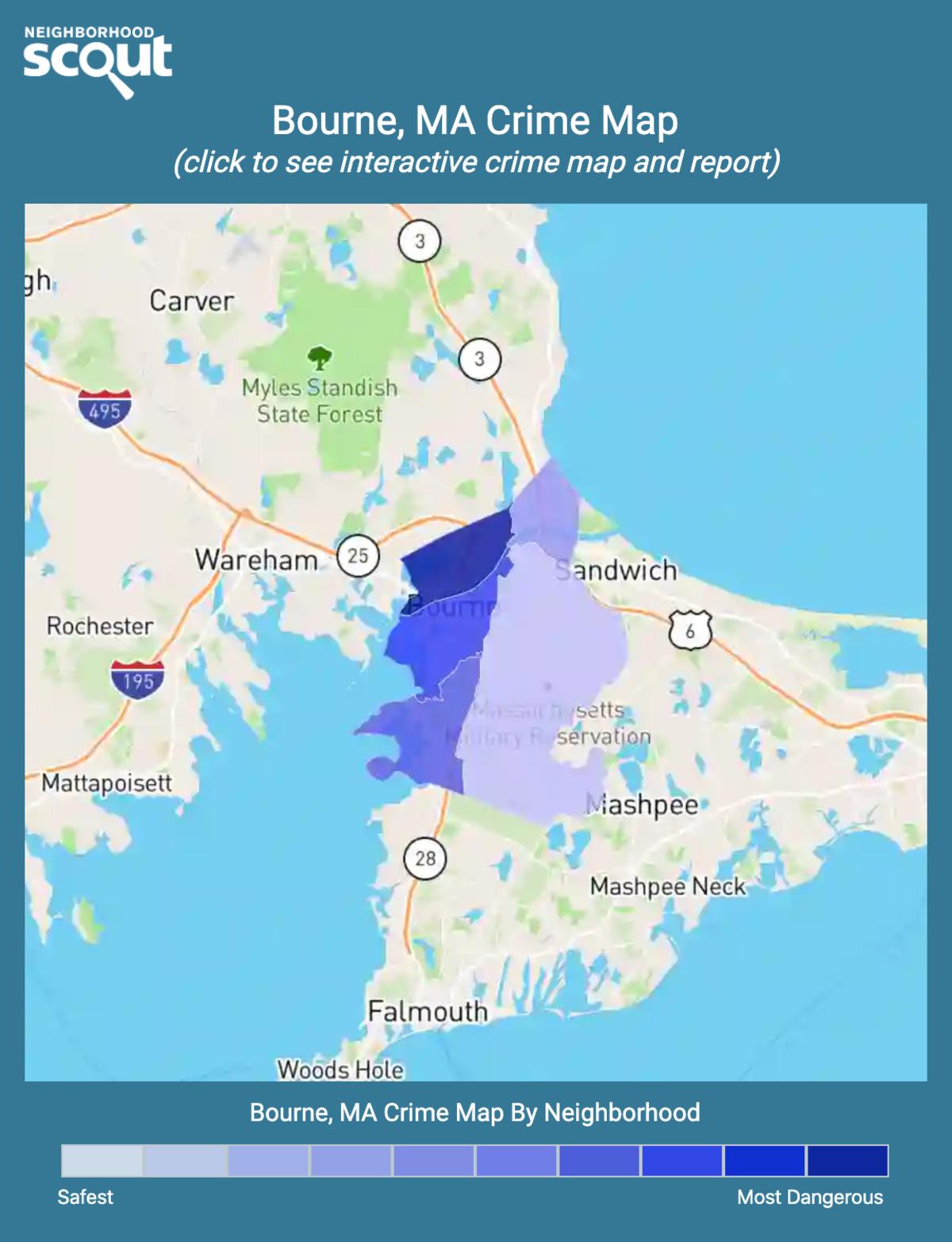 Bourne, Massachusetts crime map