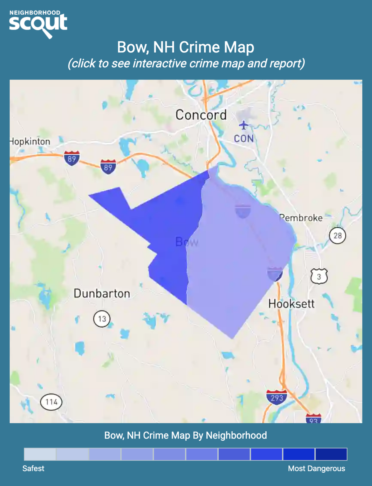 Bow, New Hampshire crime map
