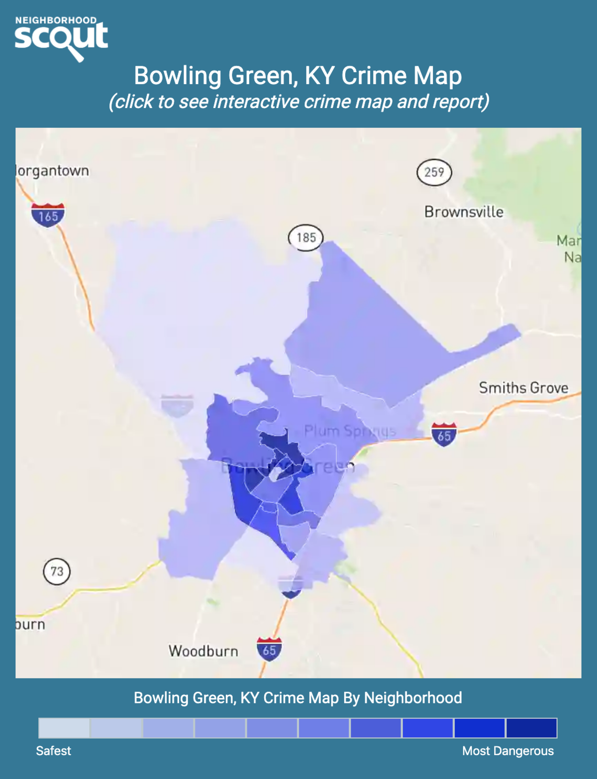 Bowling Green, Kentucky crime map