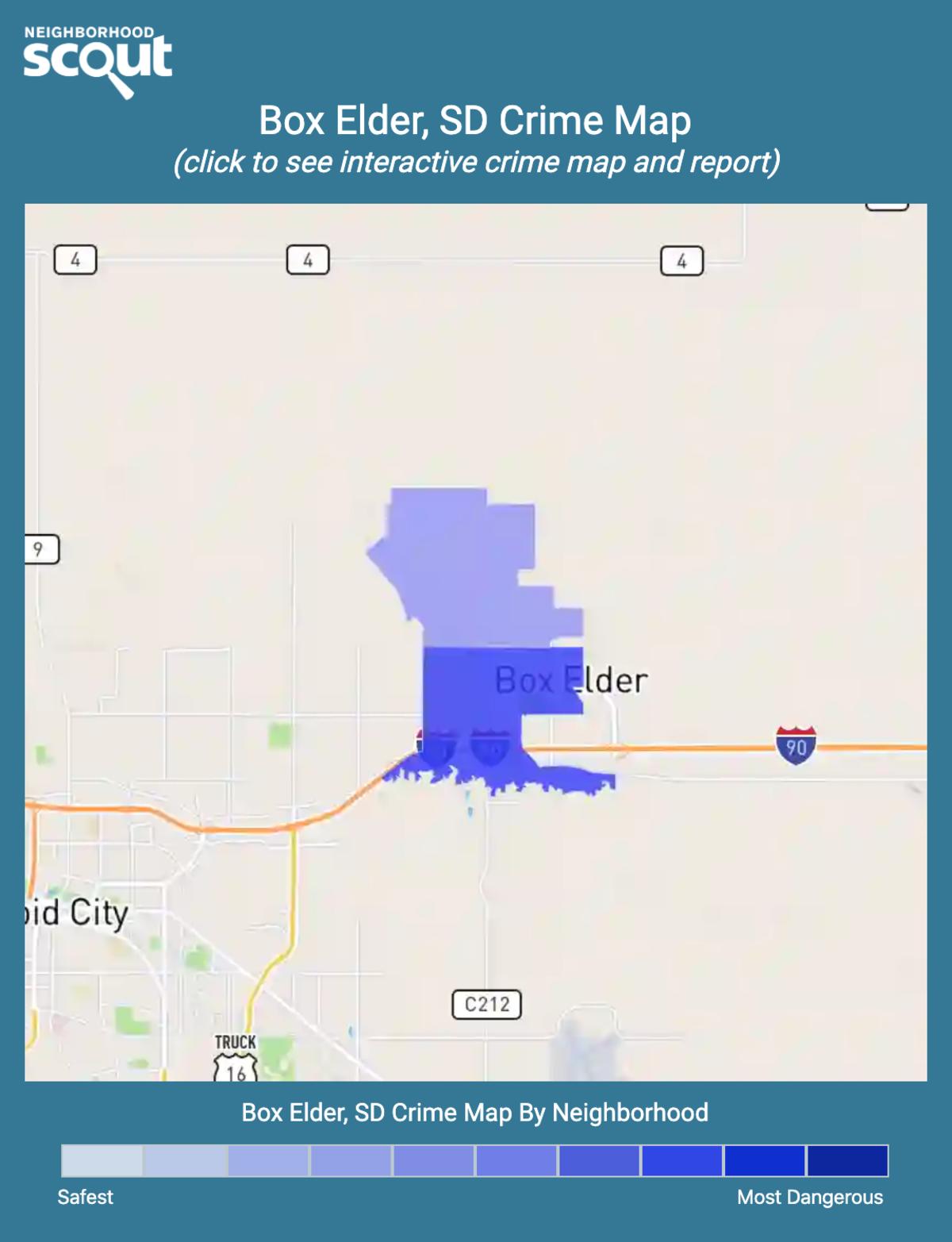 Box Elder, South Dakota crime map