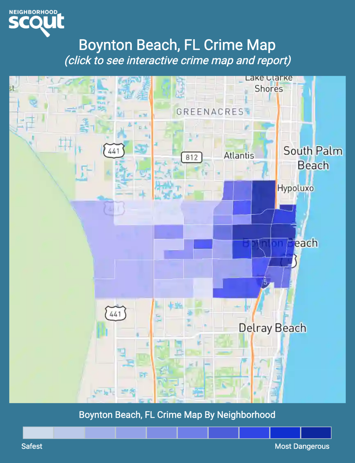 Boynton Beach, Florida crime map