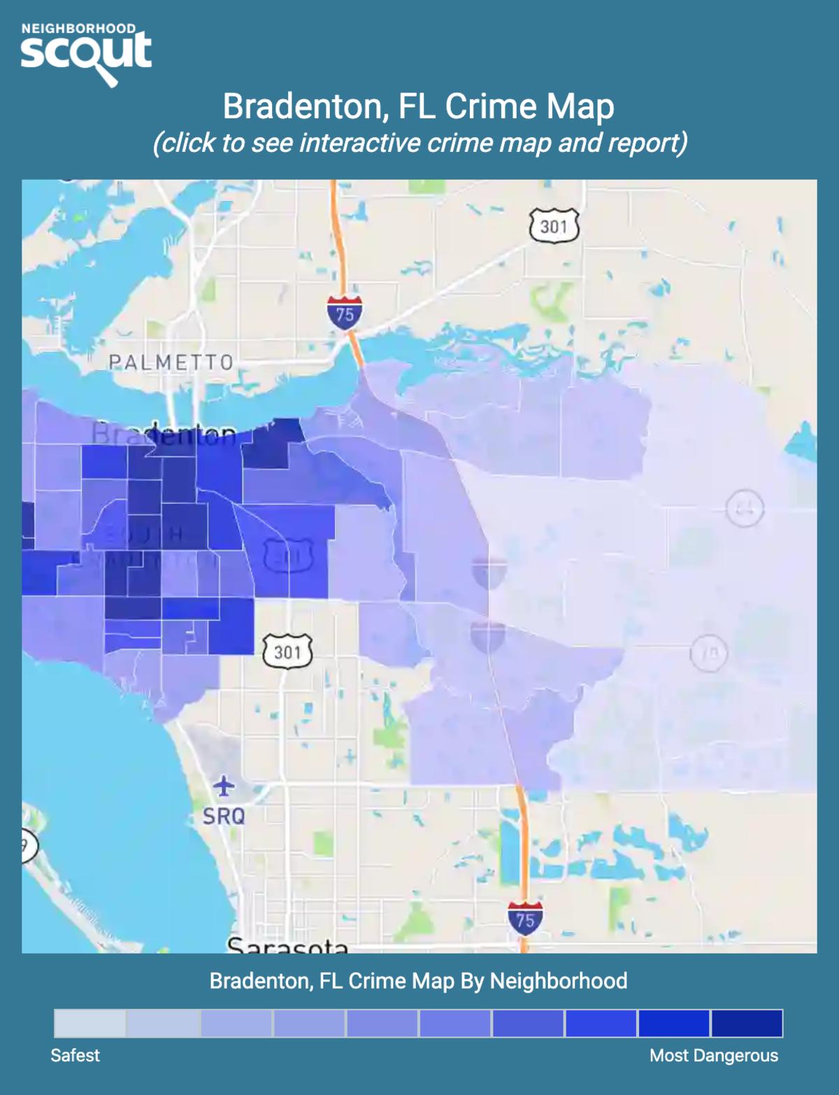 Bradenton, Florida crime map