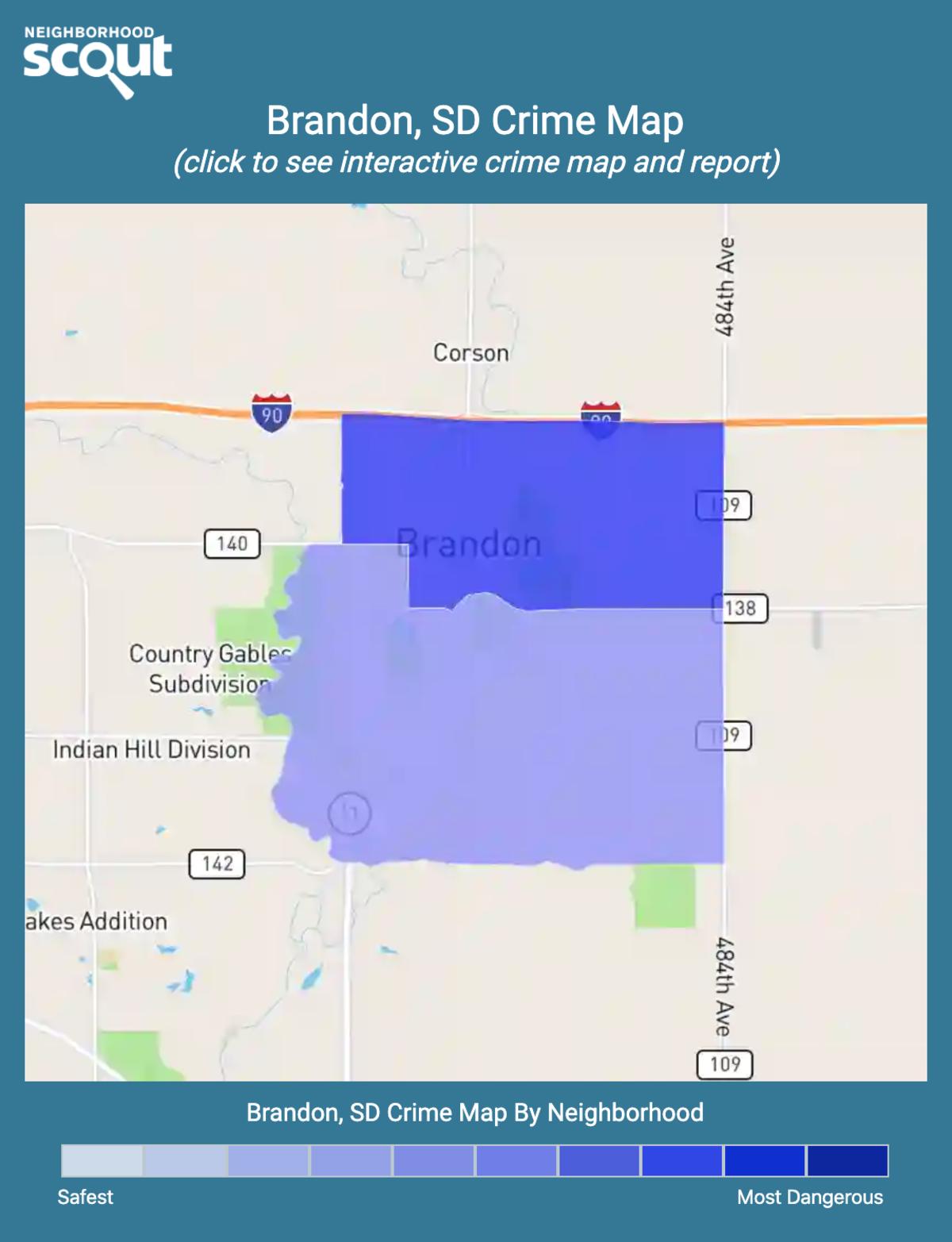 Brandon, South Dakota crime map