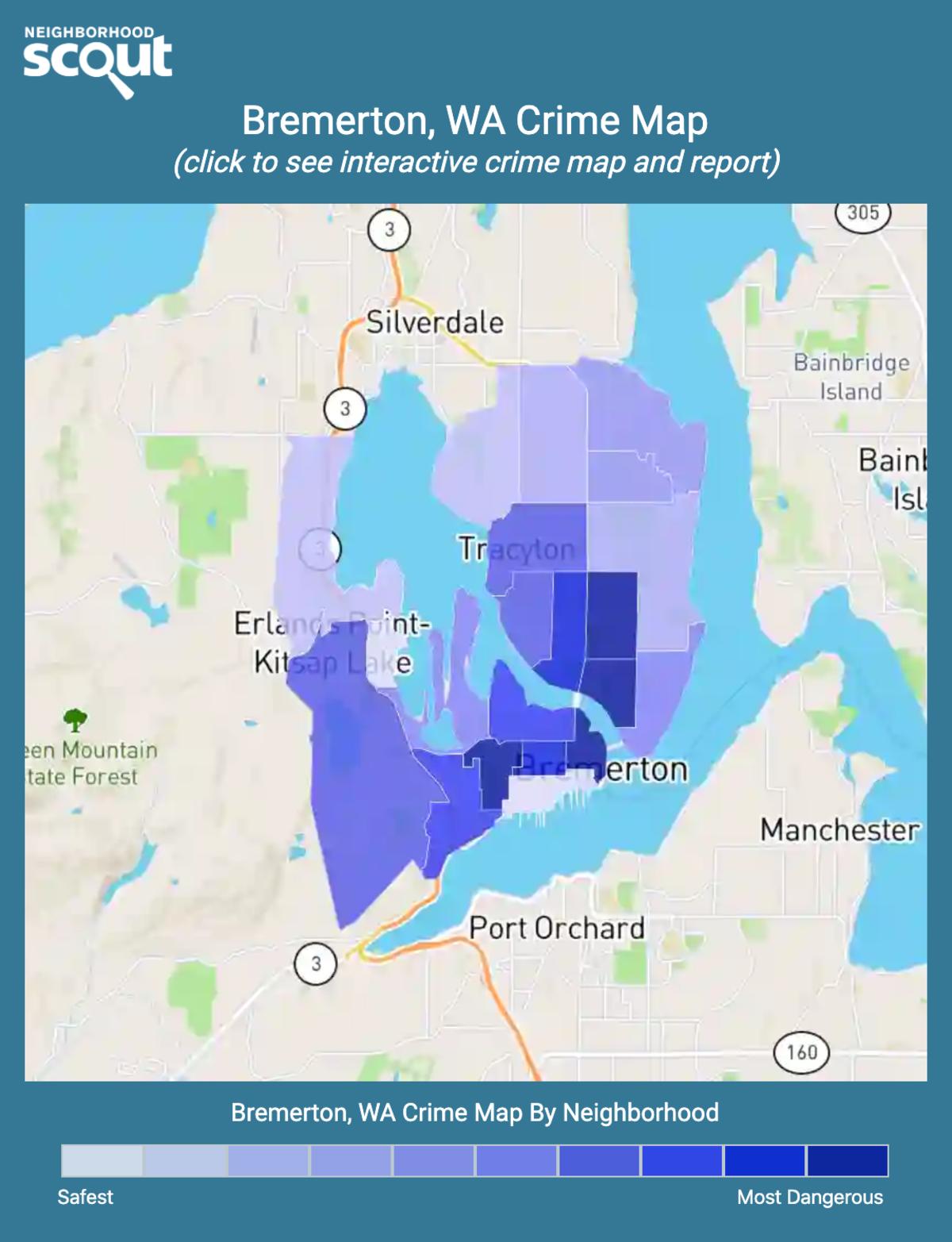 Bremerton, Washington crime map