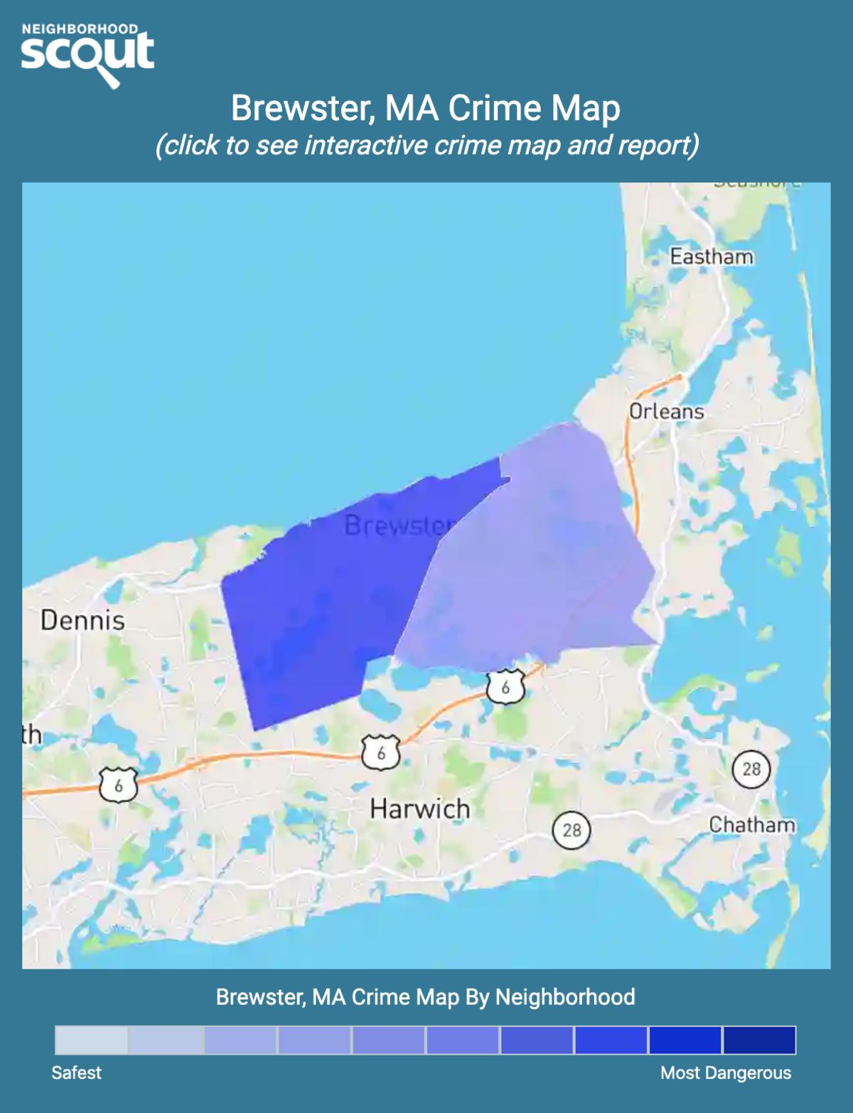 Brewster, Massachusetts crime map
