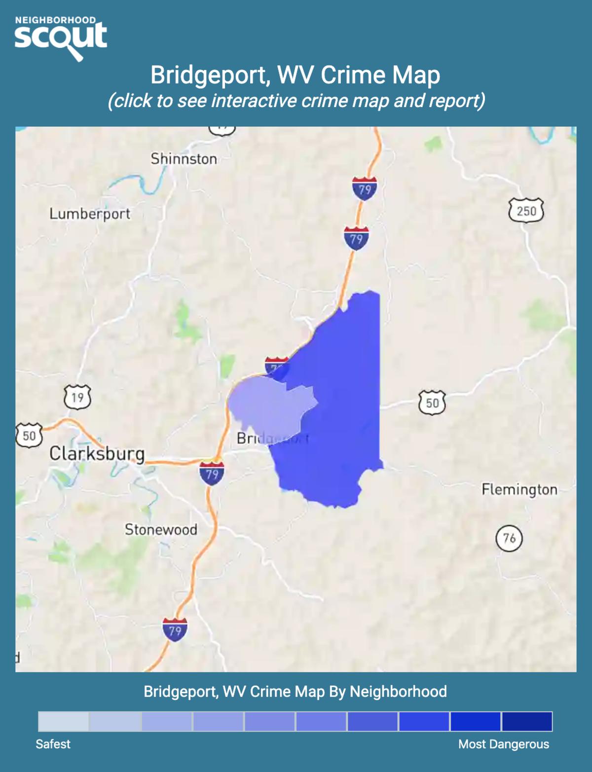 Bridgeport, West Virginia crime map