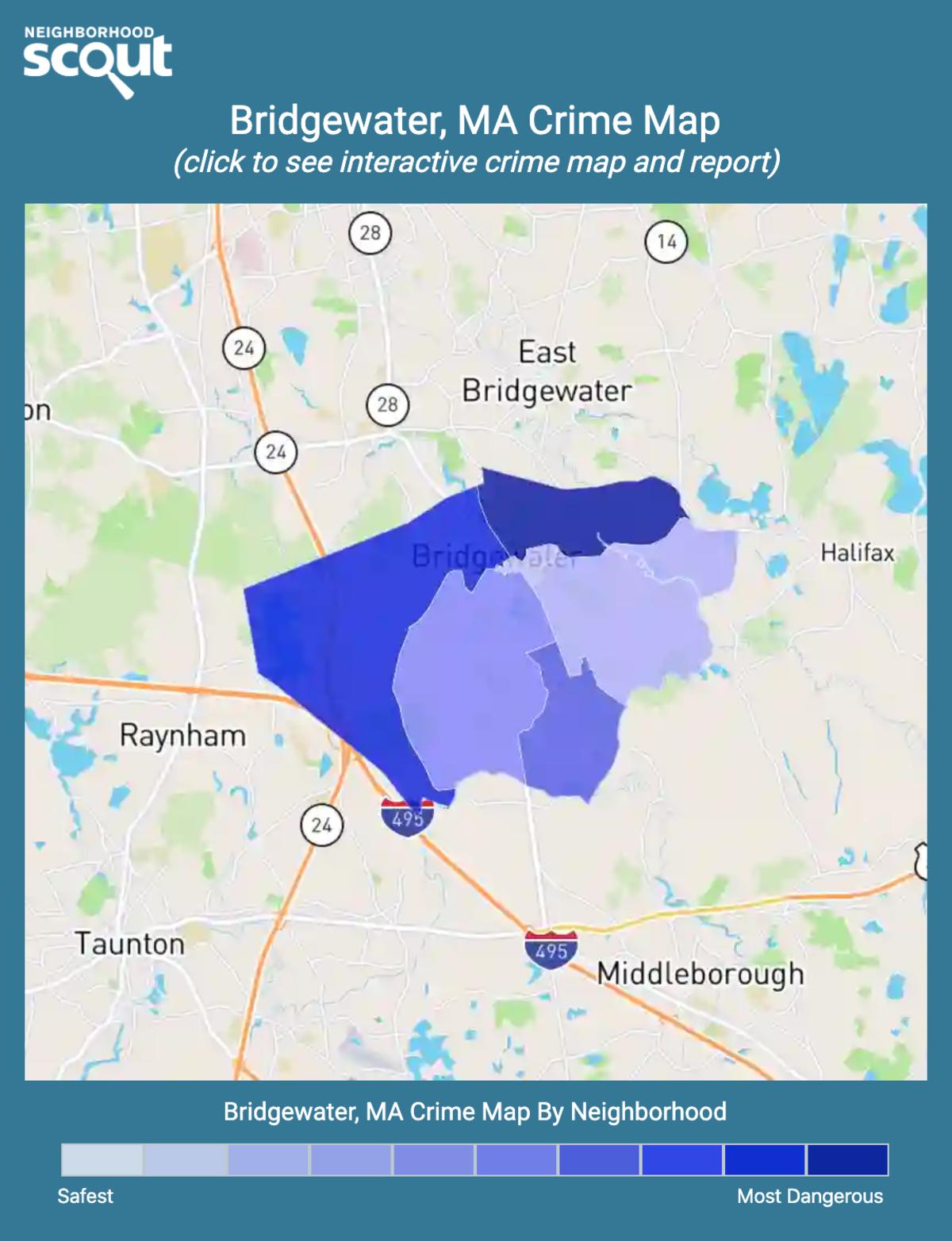 Bridgewater, Massachusetts crime map