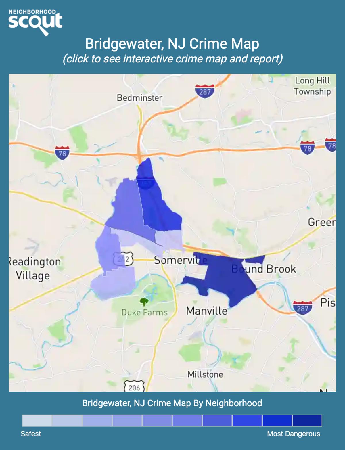 Bridgewater, New Jersey crime map