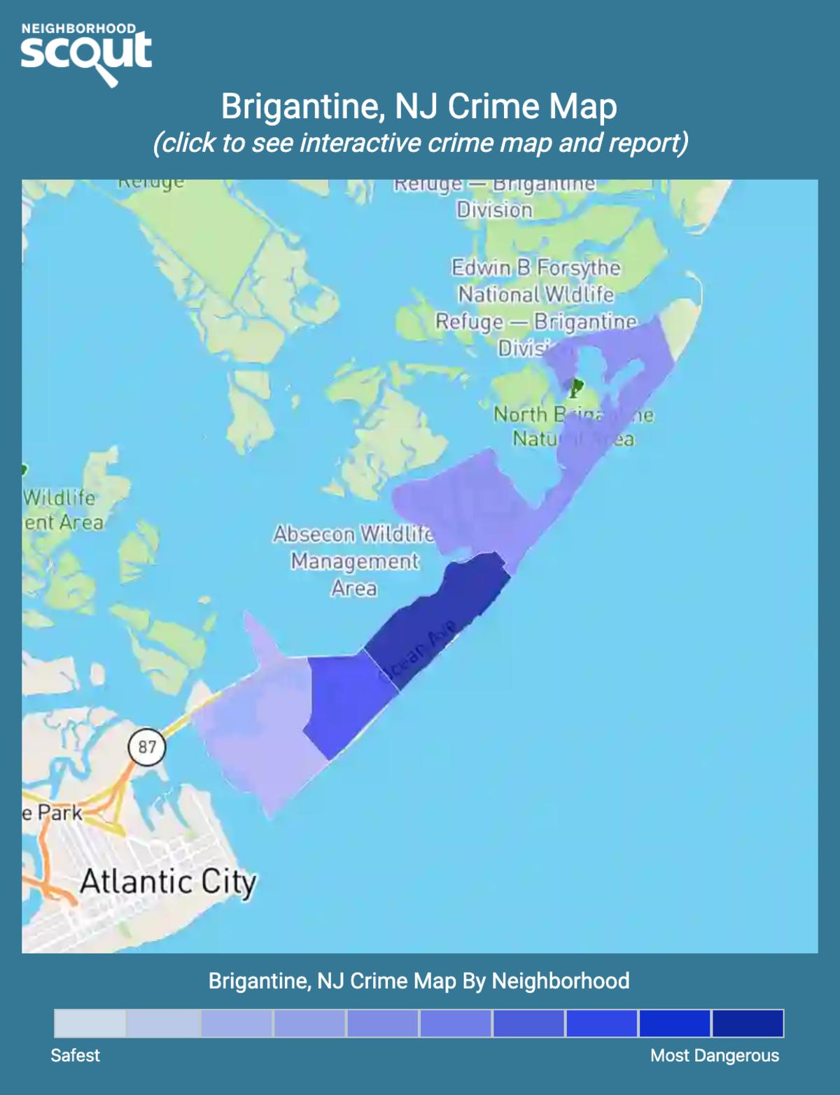 Brigantine, New Jersey crime map