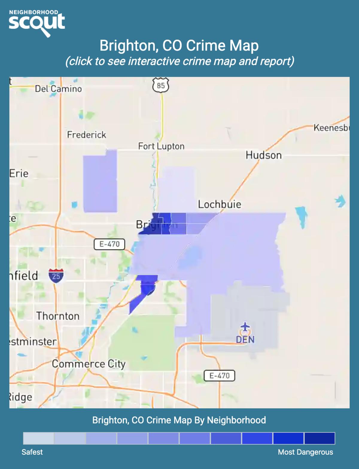 Brighton, Colorado crime map