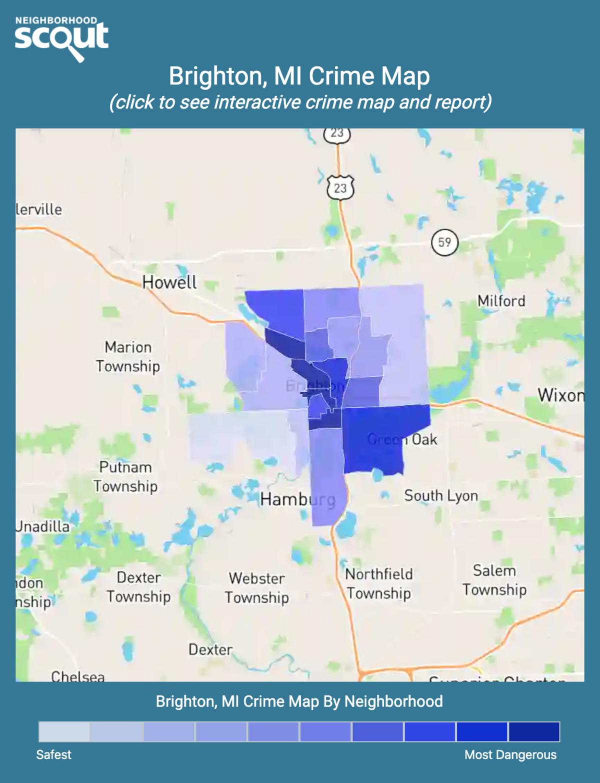 Brighton, Michigan crime map