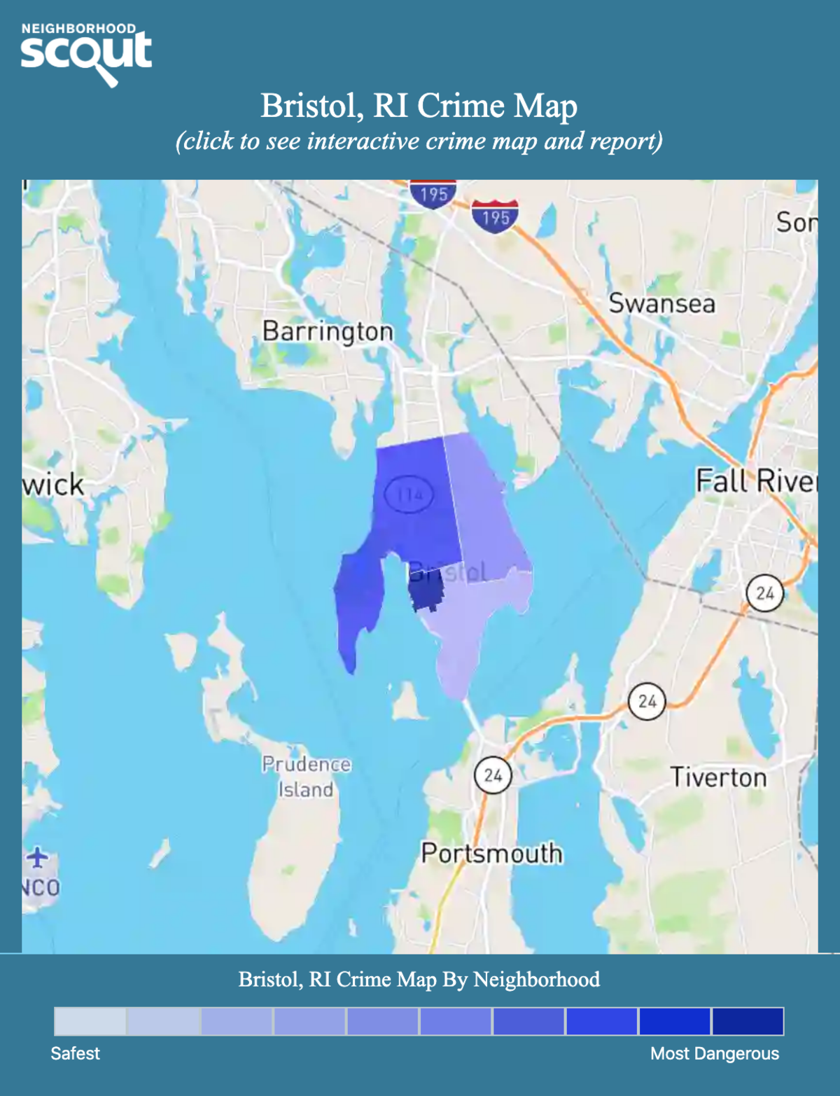 Bristol, Rhode Island crime map