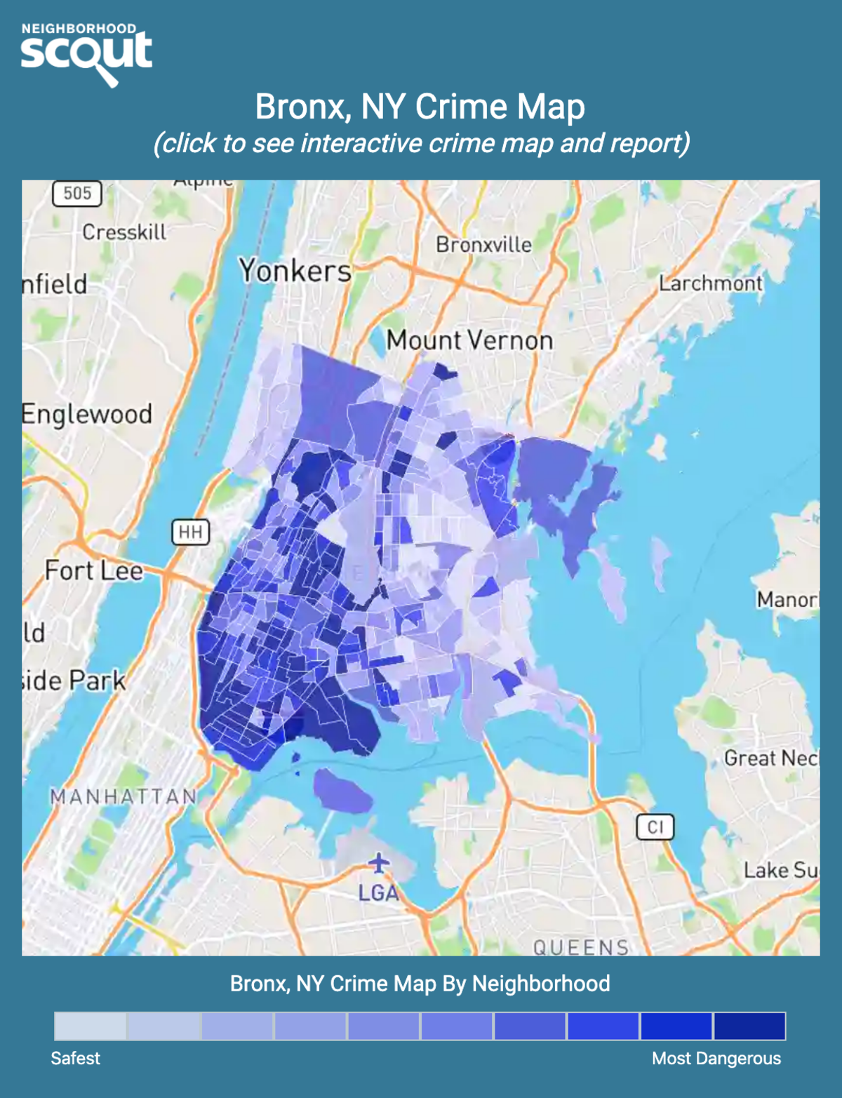 Bronx, New York crime map