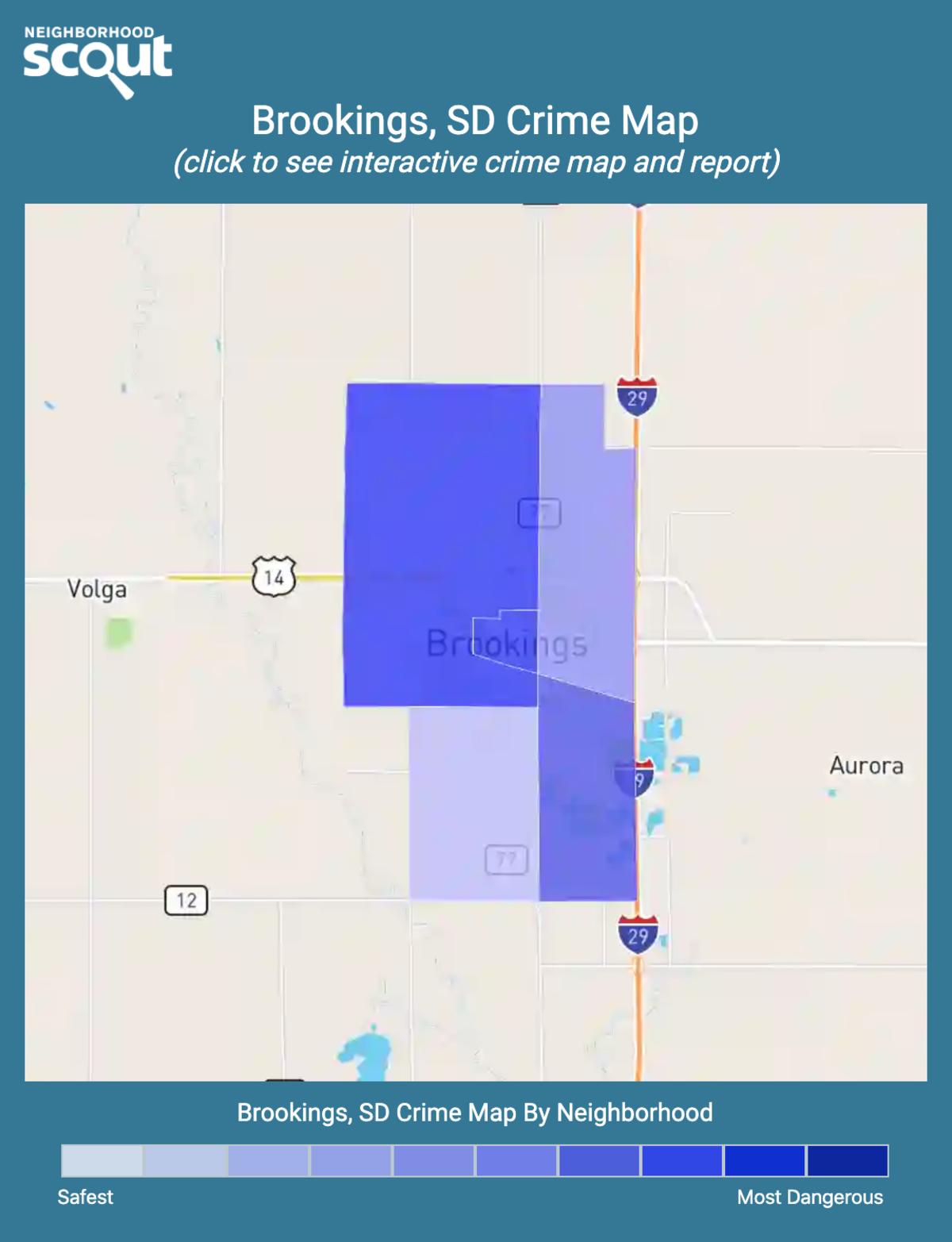 Brookings, South Dakota crime map