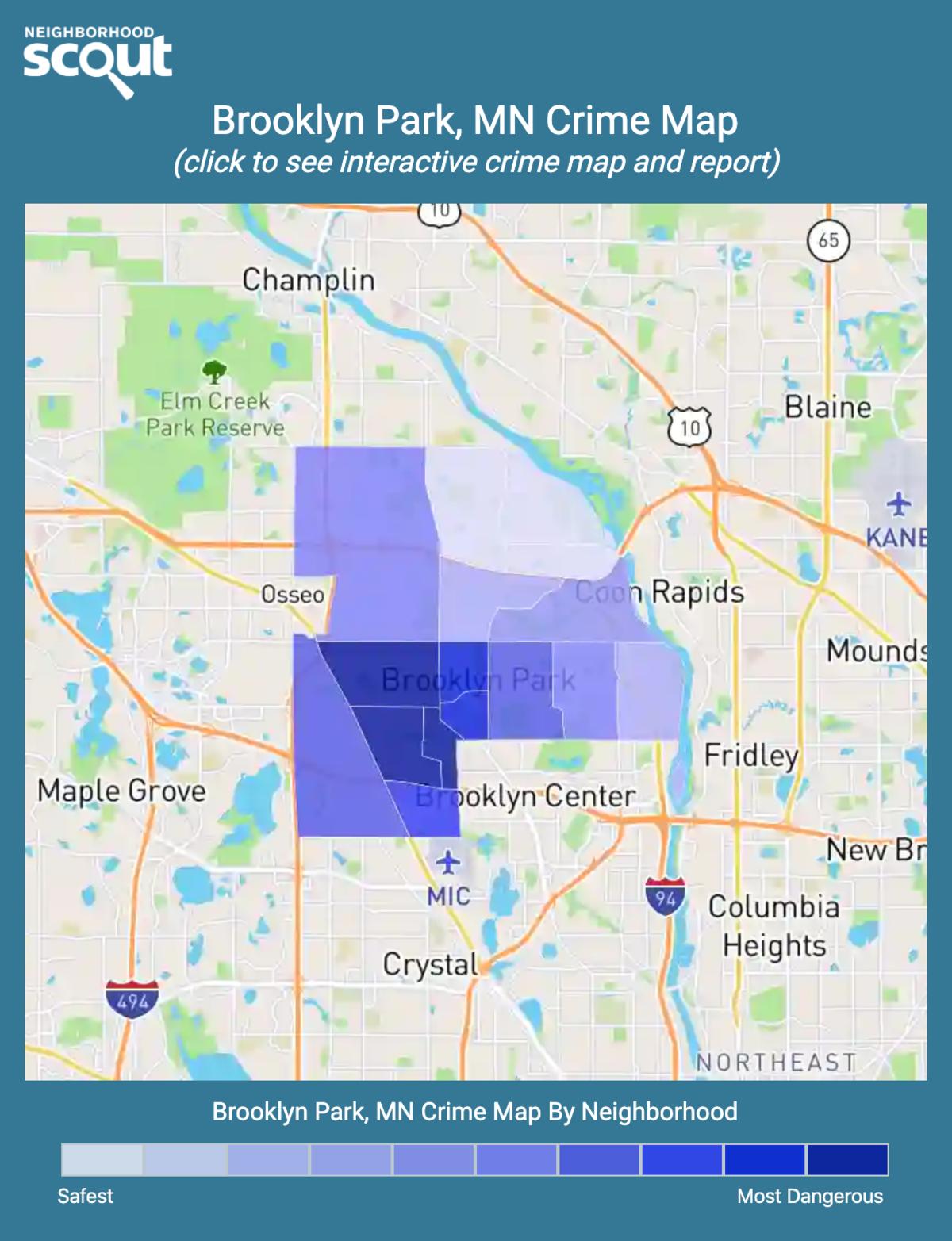Brooklyn Park, Minnesota crime map