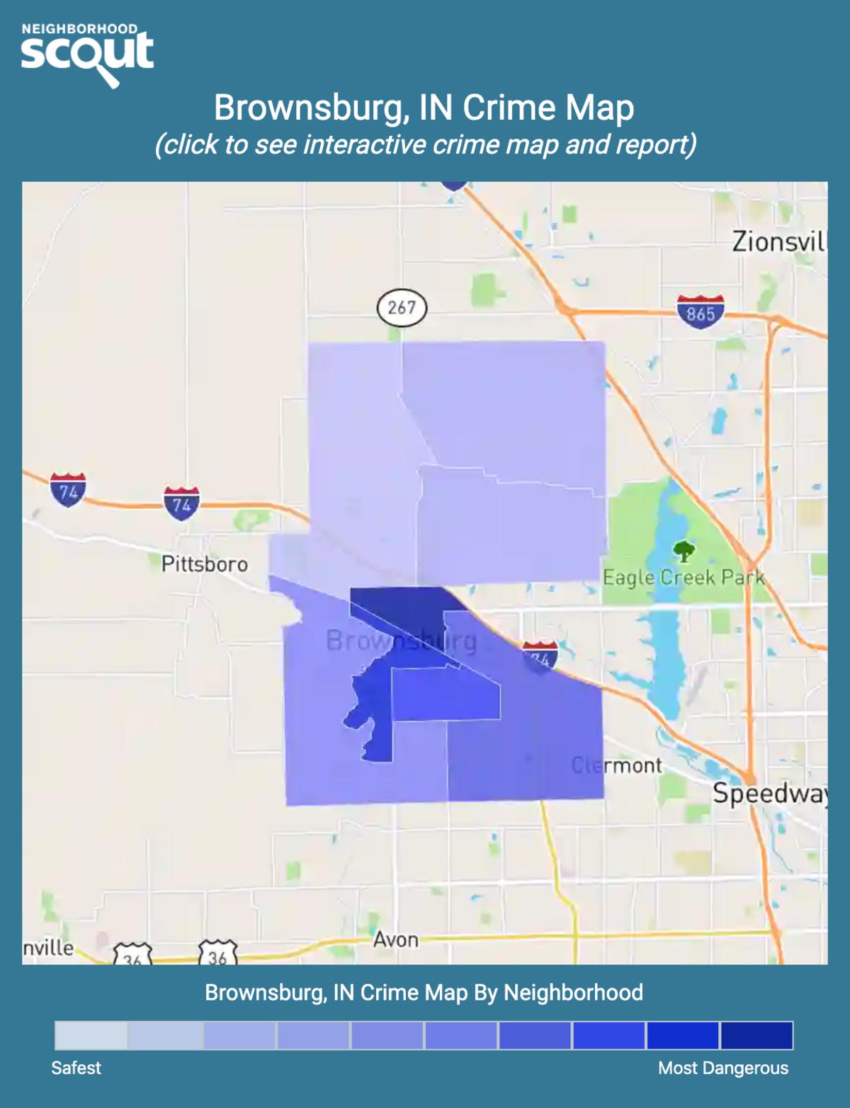 Brownsburg, Indiana crime map