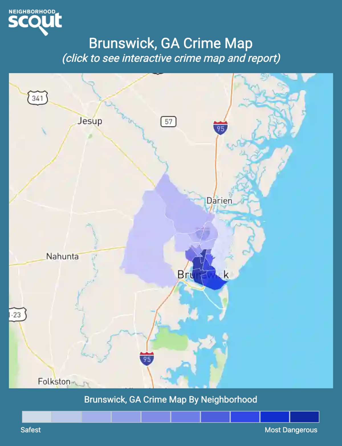 Brunswick, Georgia crime map