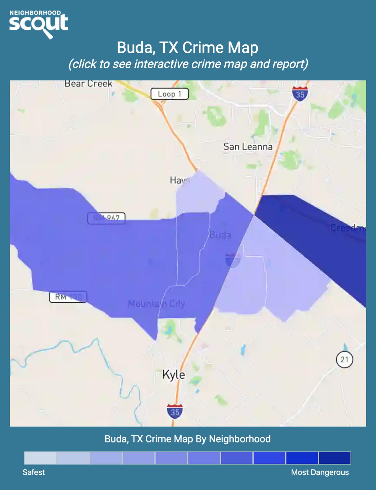 Buda, Texas crime map