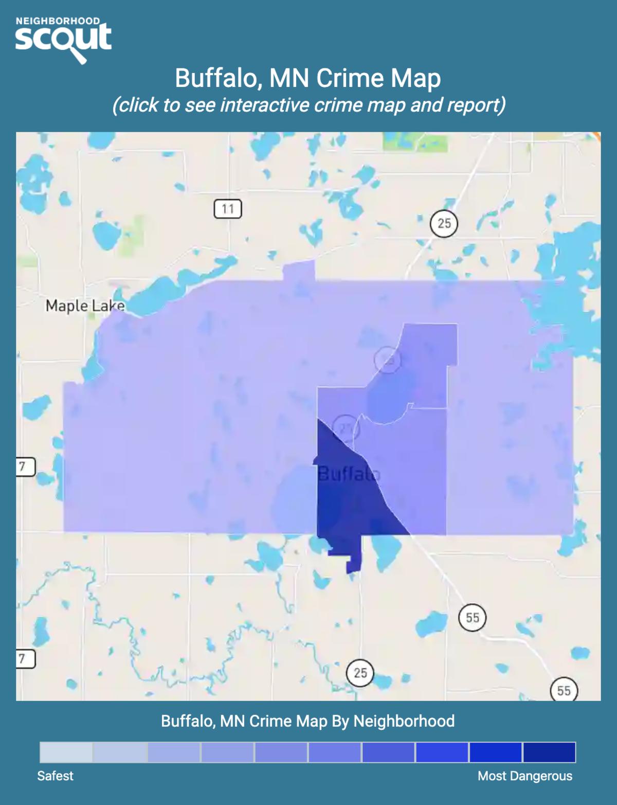 Buffalo, Minnesota crime map