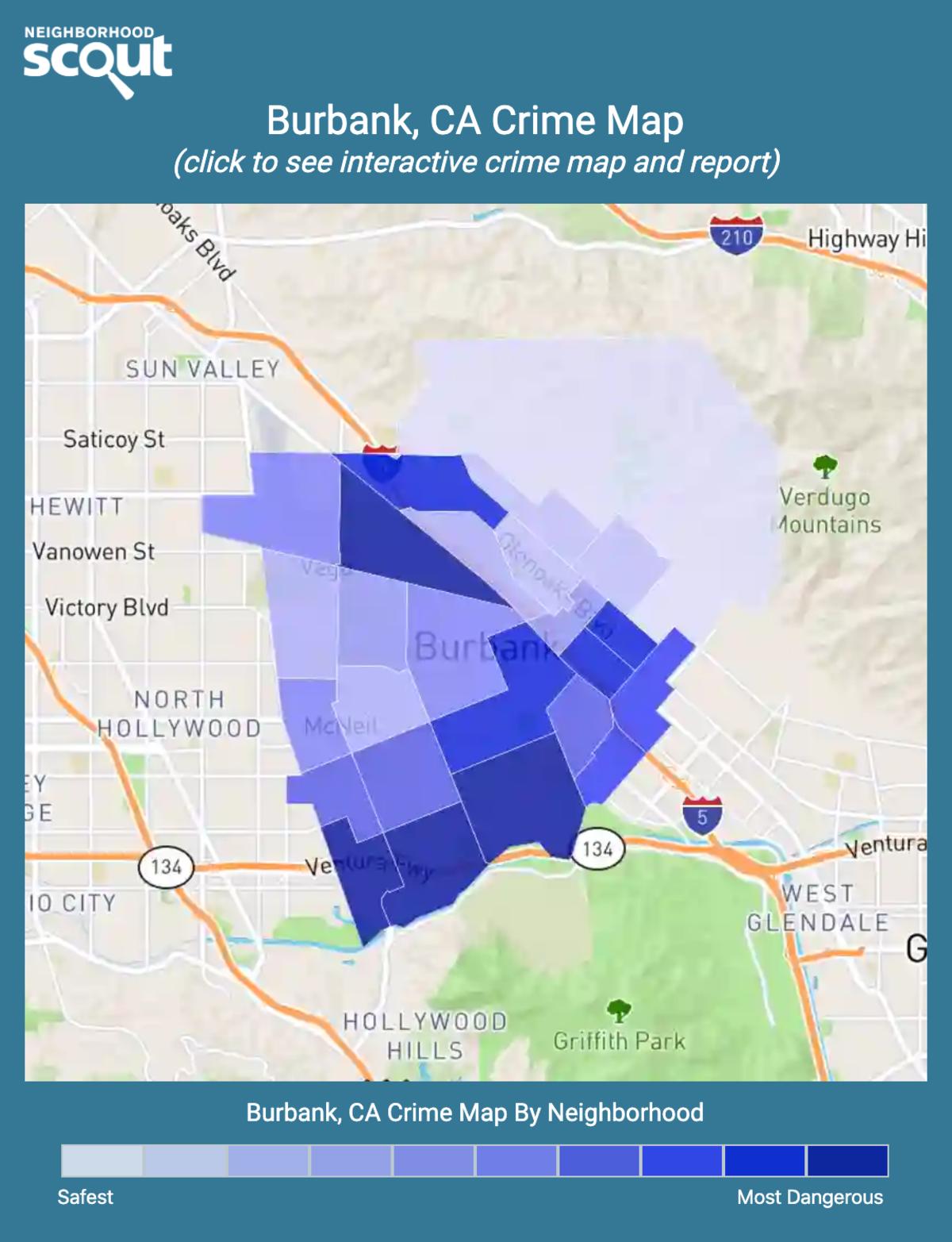 Burbank, California crime map
