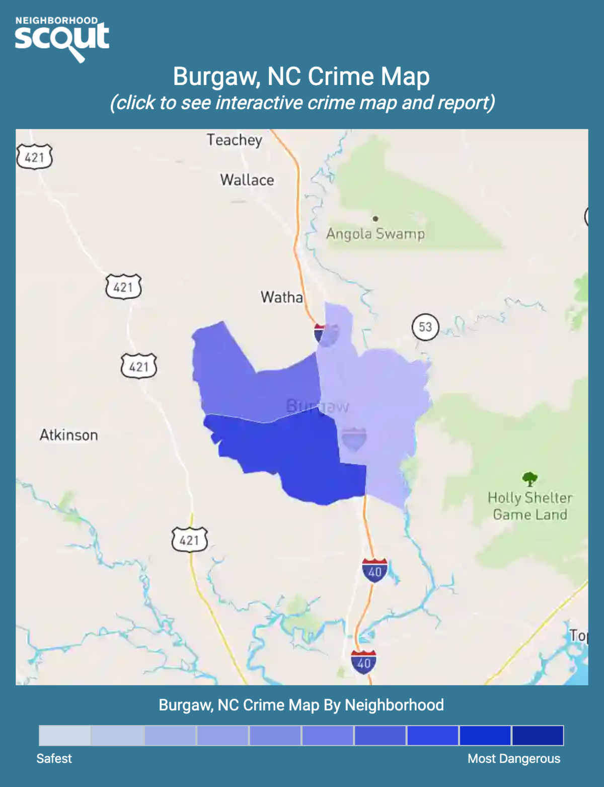 Burgaw, North Carolina crime map