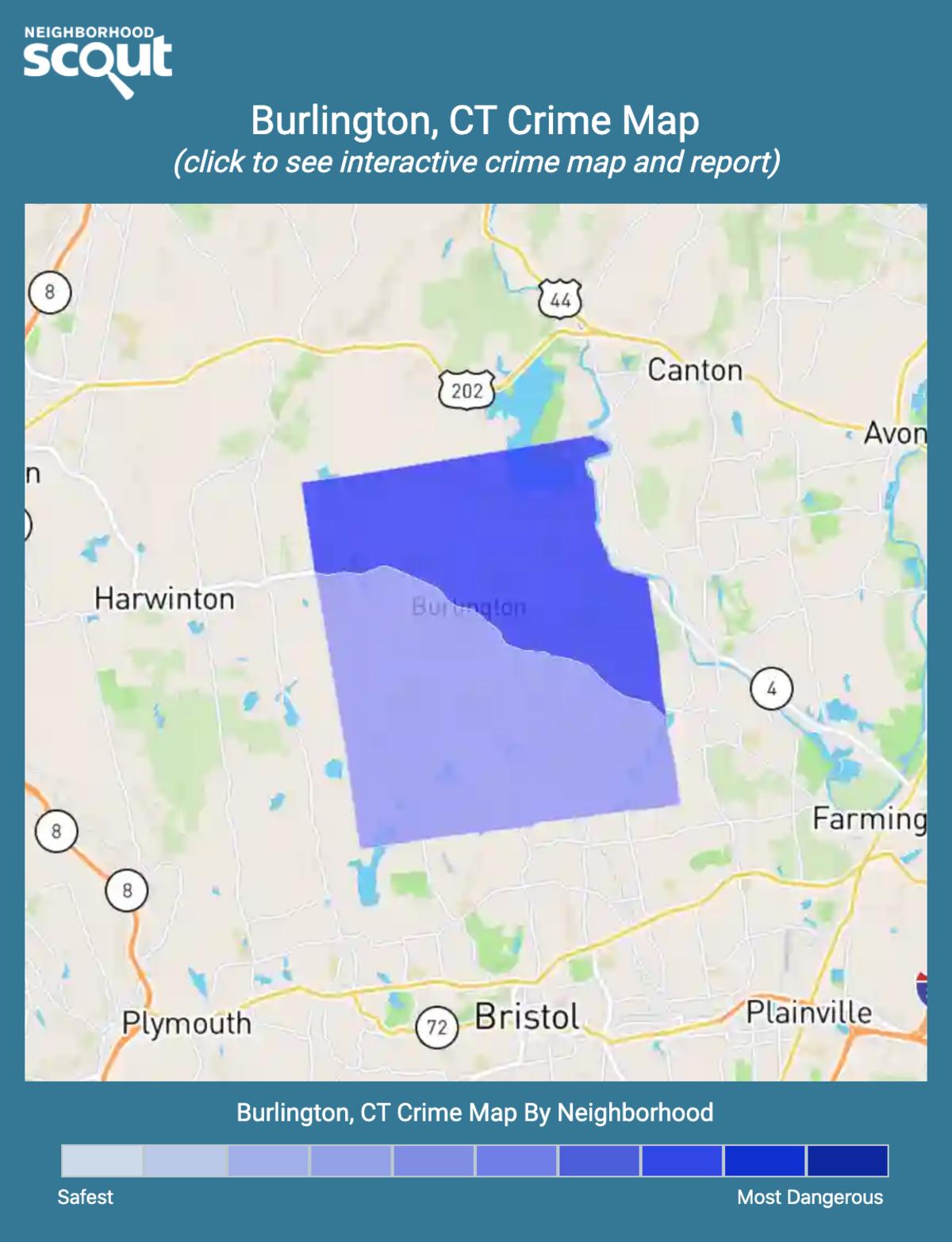 Burlington, Connecticut crime map