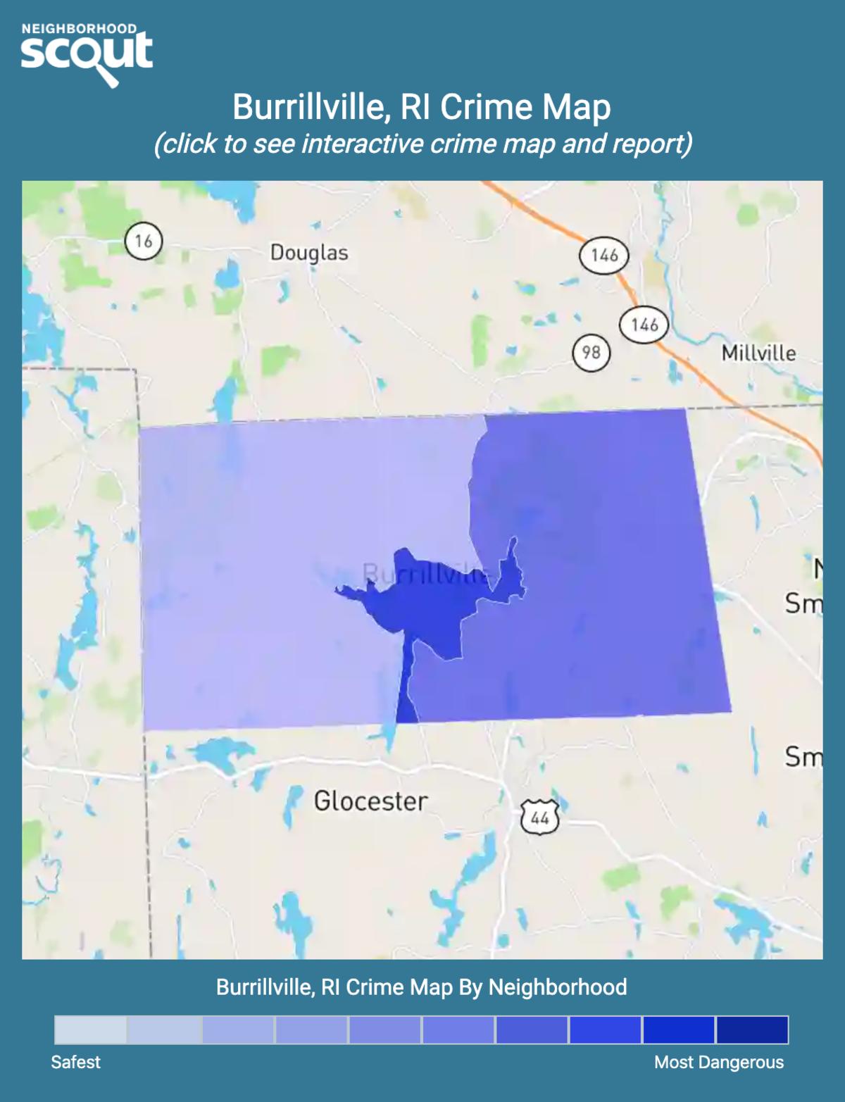 Burrillville, Rhode Island crime map