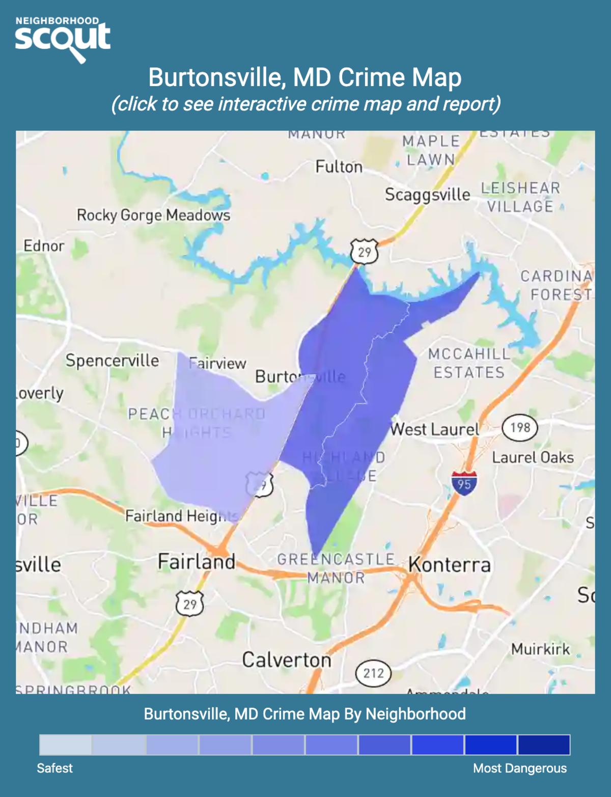 Burtonsville, Maryland crime map