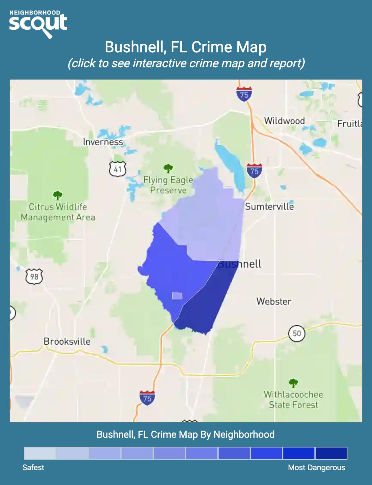 Bushnell, Florida crime map