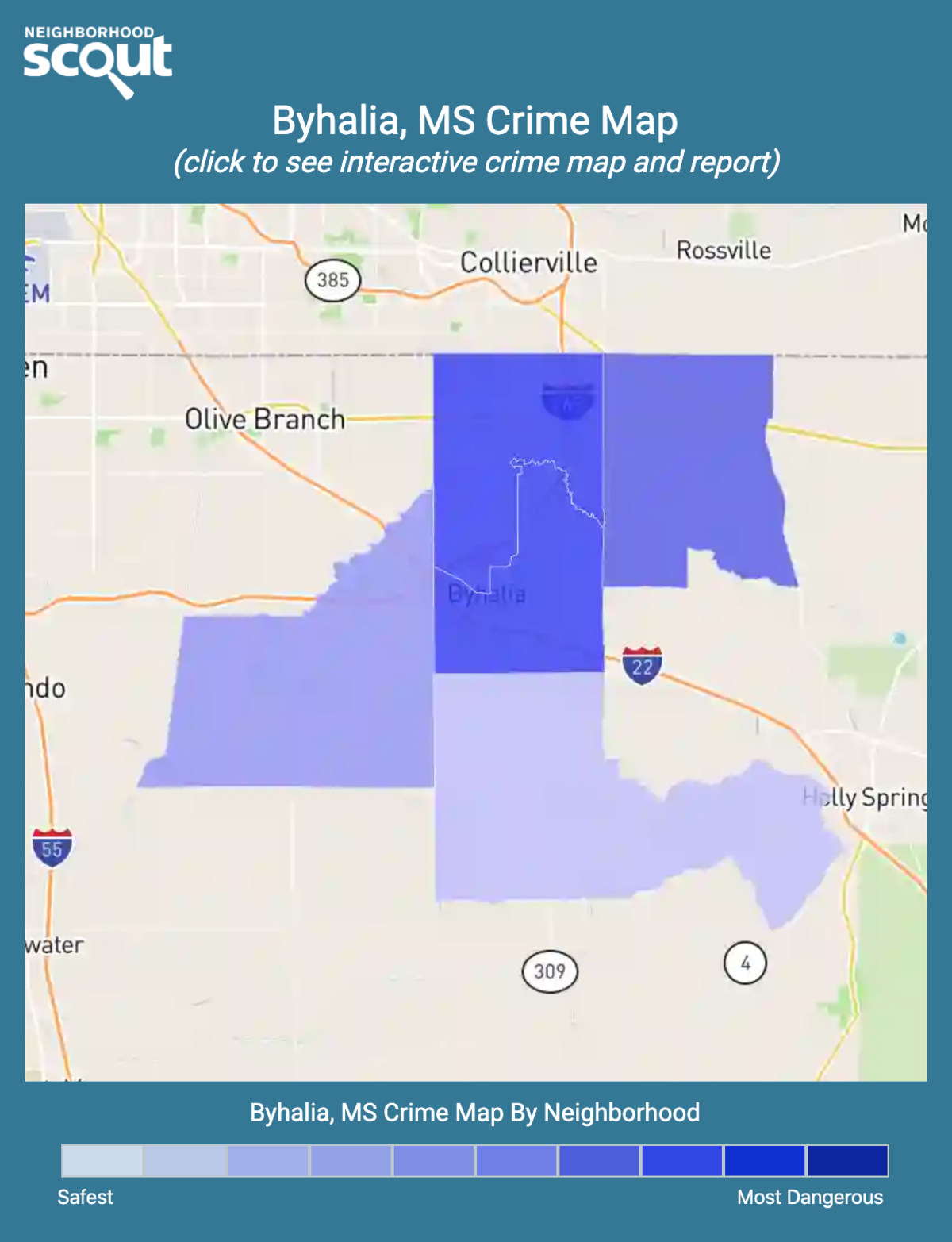 Byhalia, Mississippi crime map