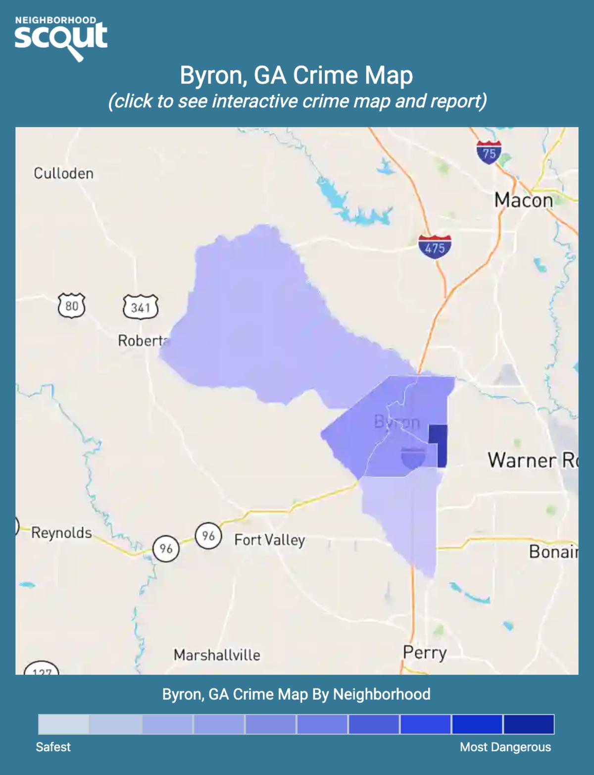 Byron, Georgia crime map