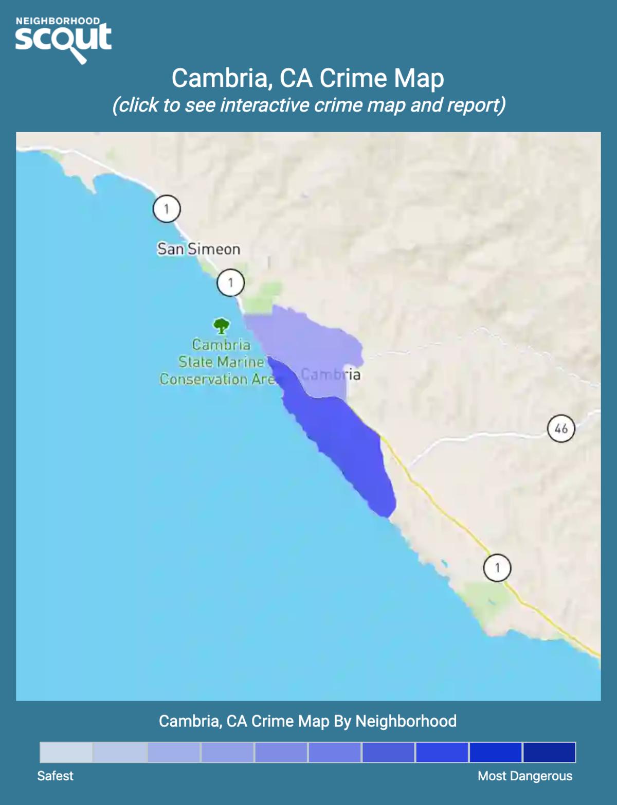 Cambria, California crime map