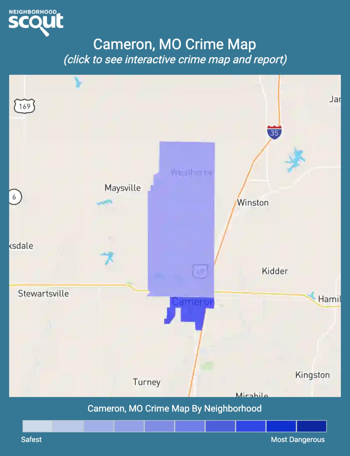Cameron, Missouri crime map