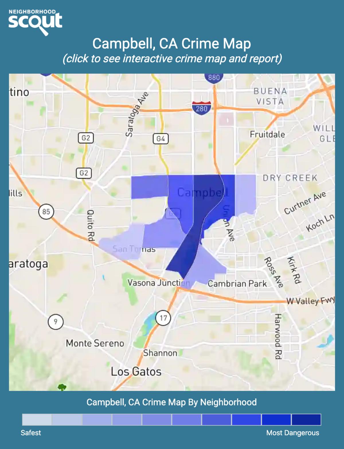 Campbell, California crime map