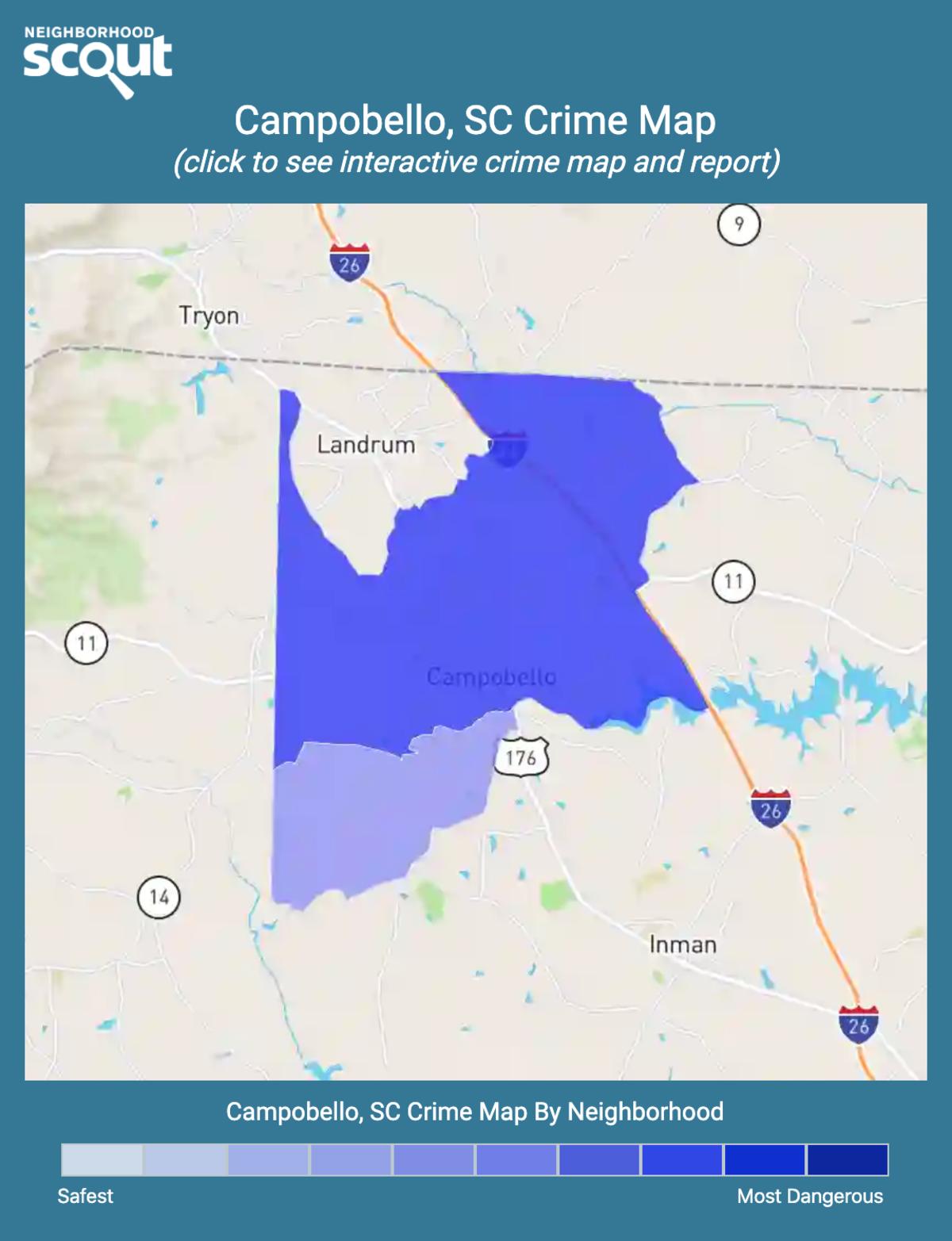 Campobello, South Carolina crime map