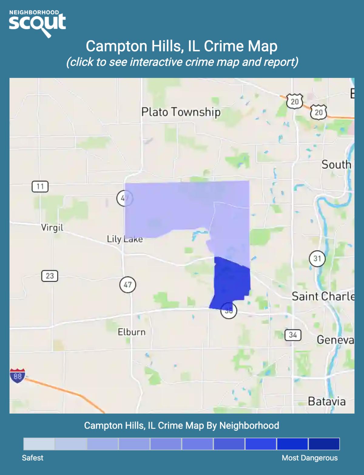 Campton Hills, Illinois crime map