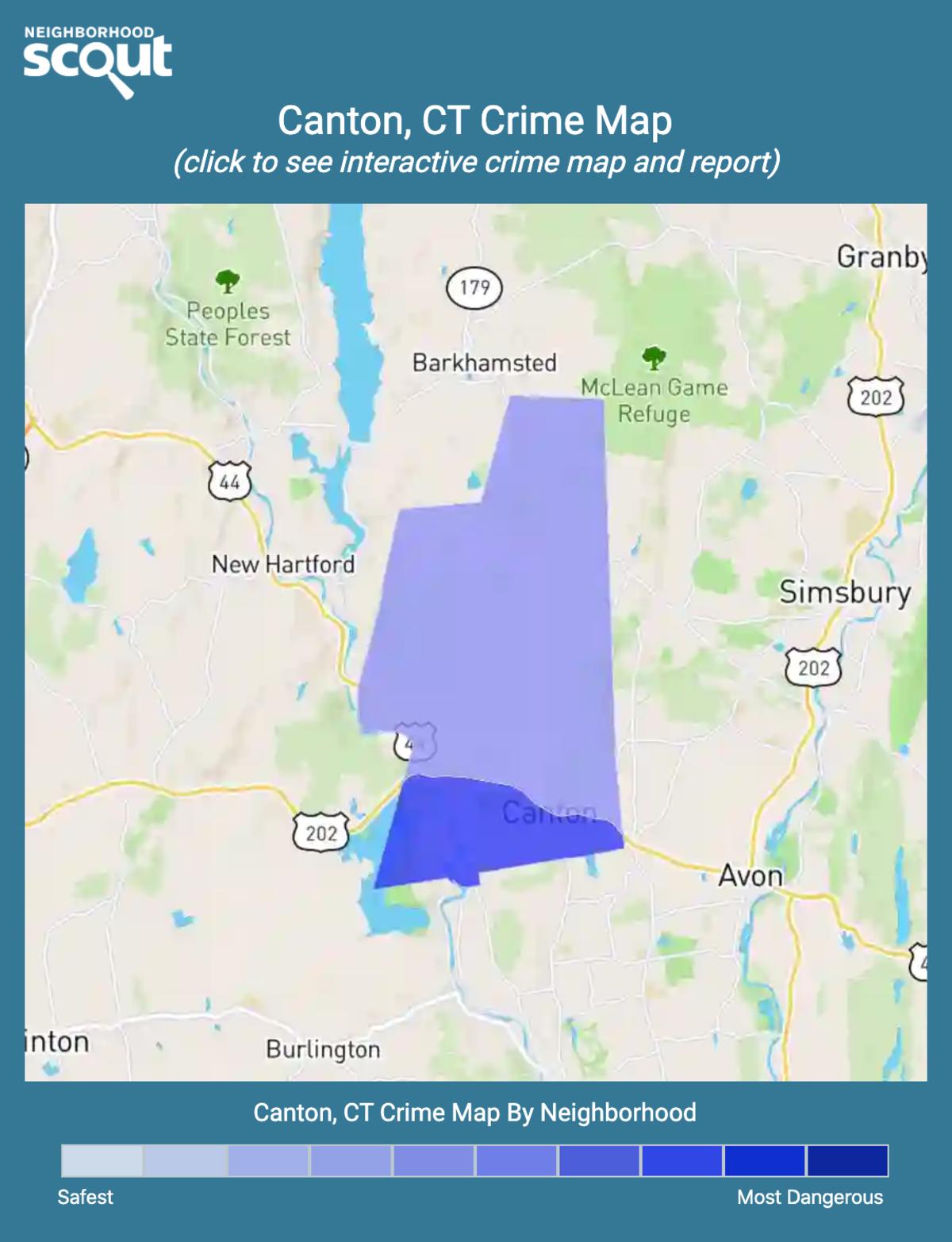 Canton, Connecticut crime map
