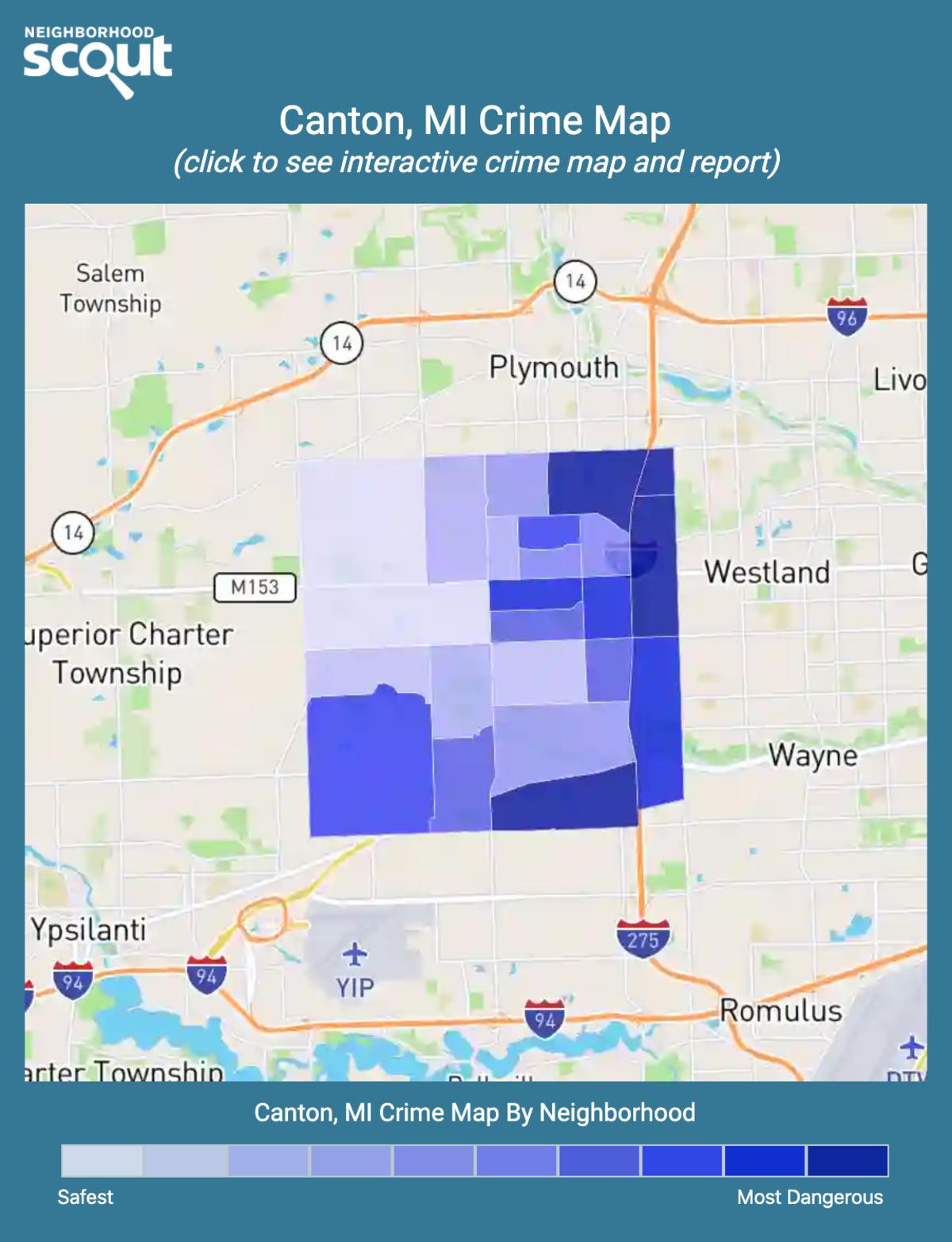 Canton, Michigan crime map