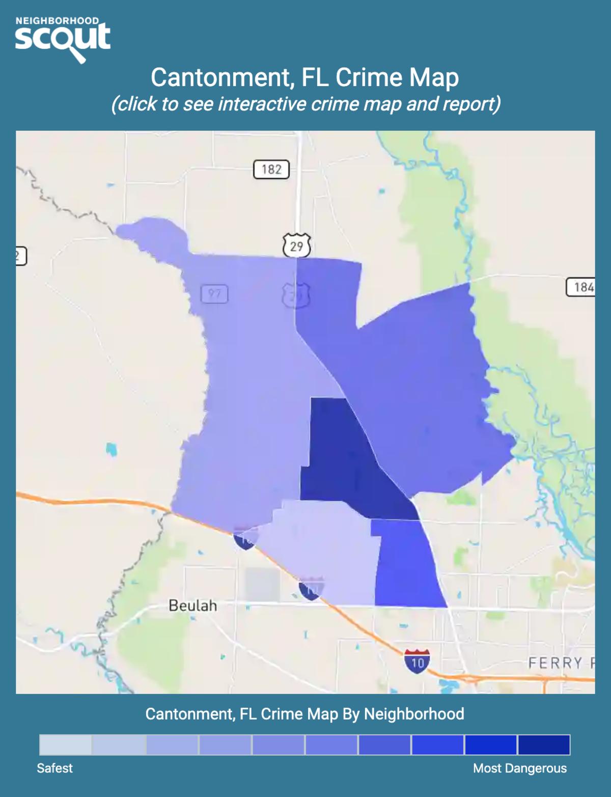 Cantonment, Florida crime map