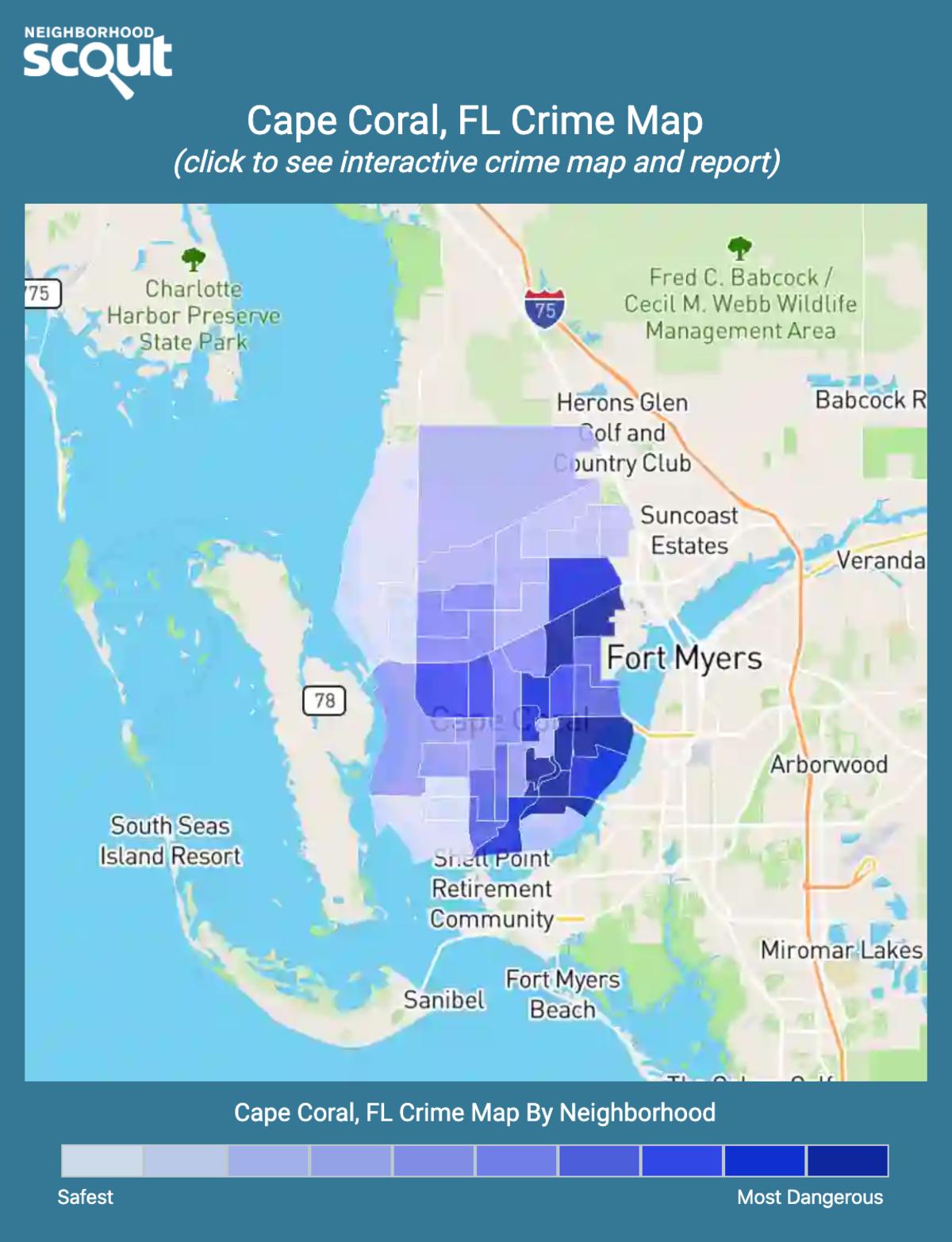 Cape Coral, Florida crime map